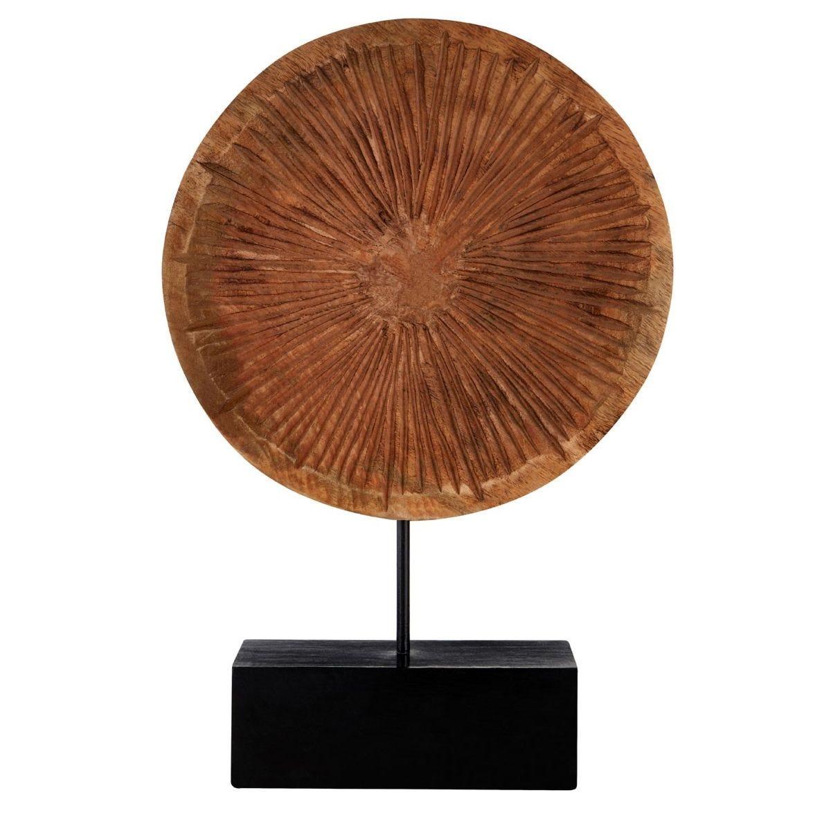 Premier Housewares Large Disc - Carved Wood