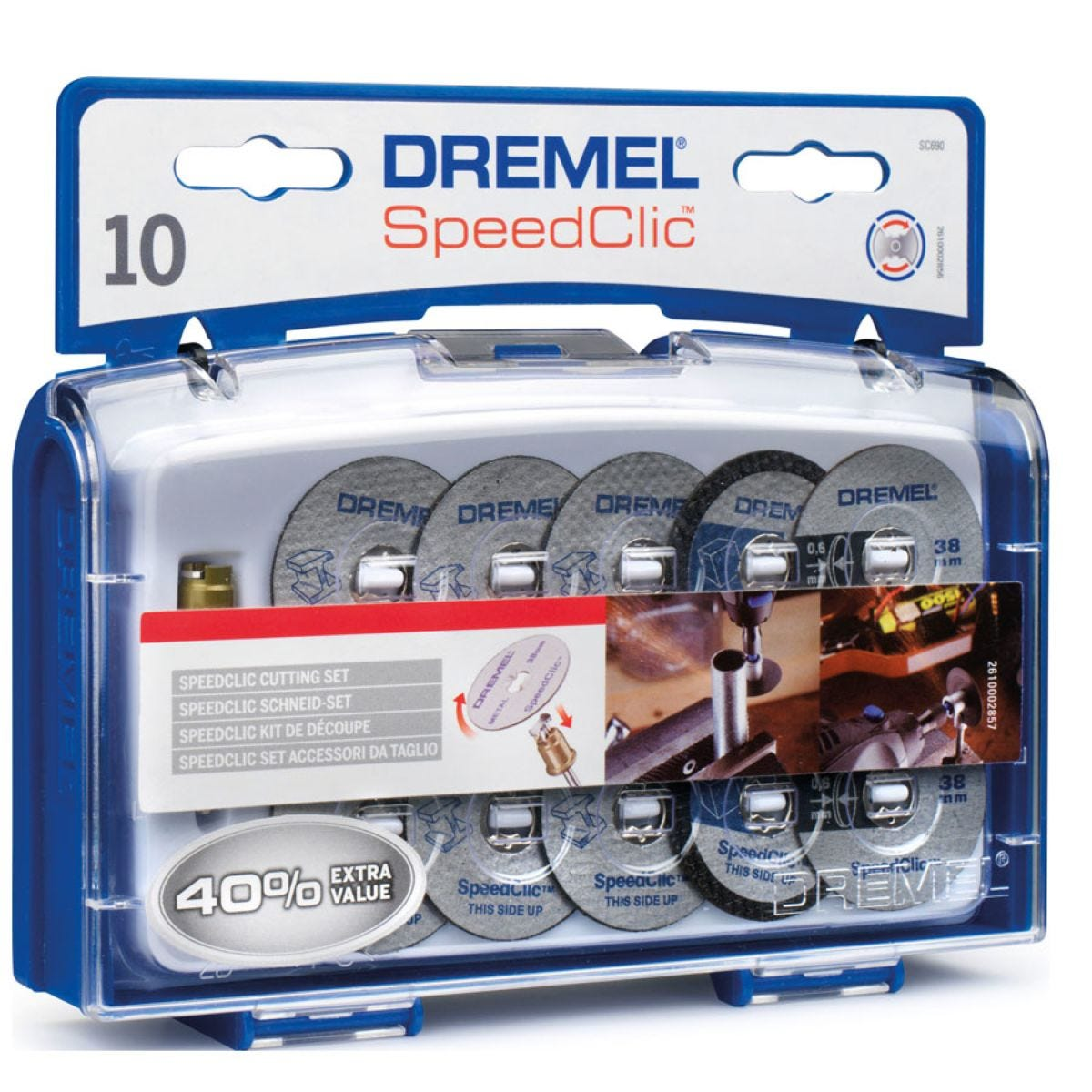 Dremel EZ SpeedClic Mandrel and Cutting Accessories – Pack of 10