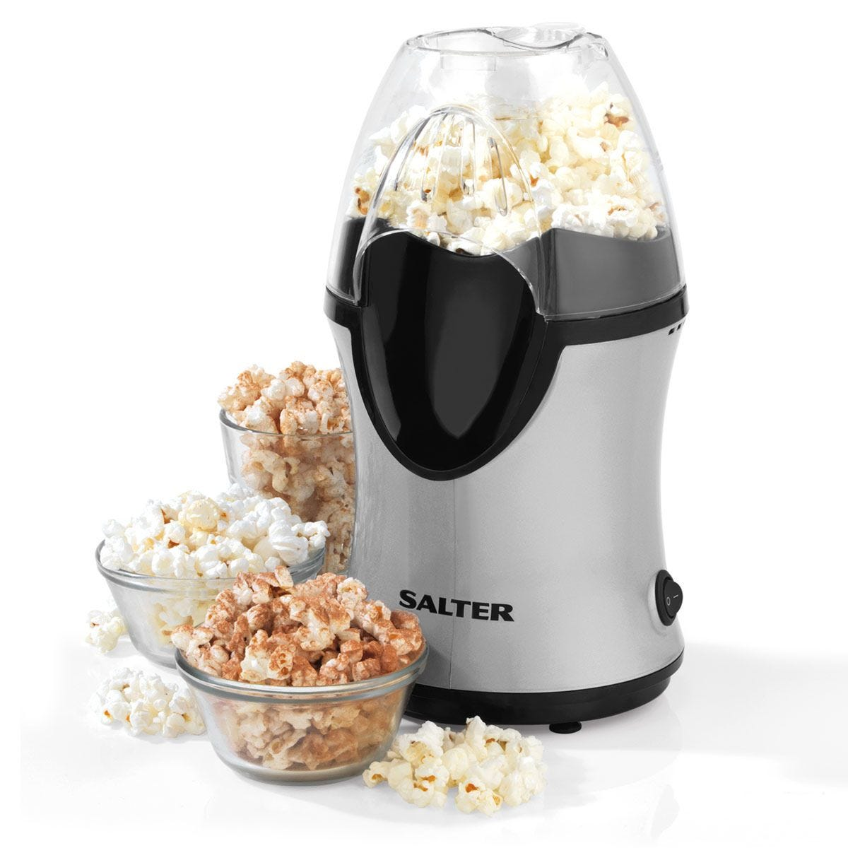 Salter 1200W Healthy Electric Hot Air Popcorn Maker - Grey