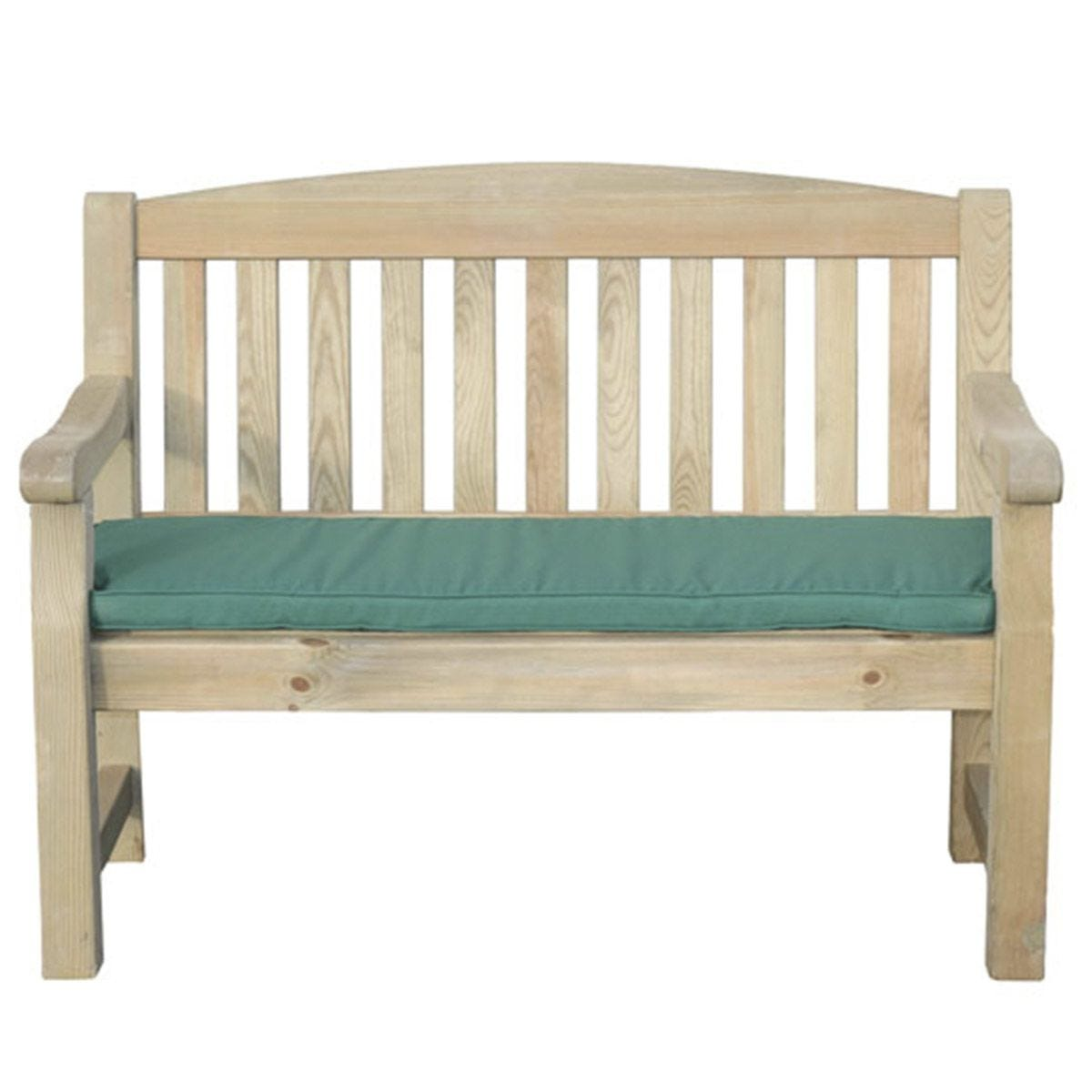 Zest4Leisure Emily 2-Seater Bench and Cushion - Green