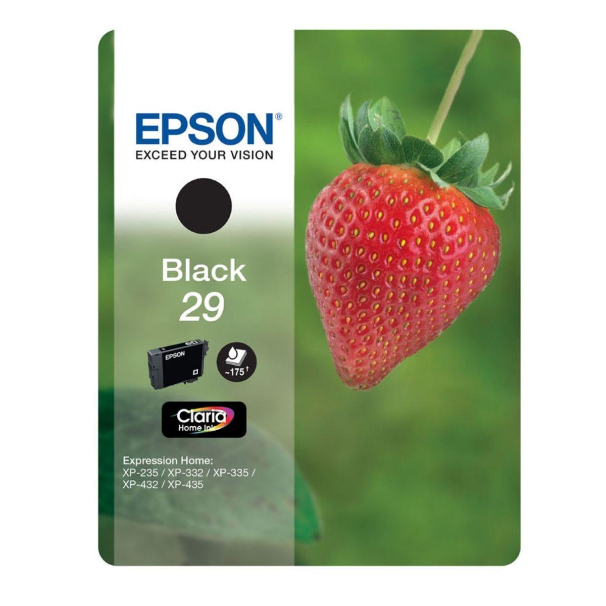 Epson 29 Strawberry Black Ink Cartridge