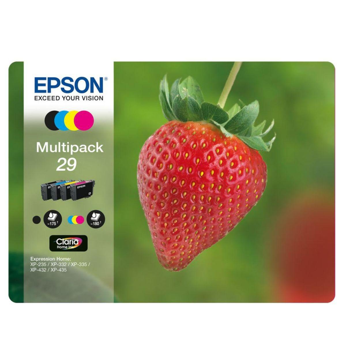 Epson 29 Strawberry Multipack Ink Cartridges
