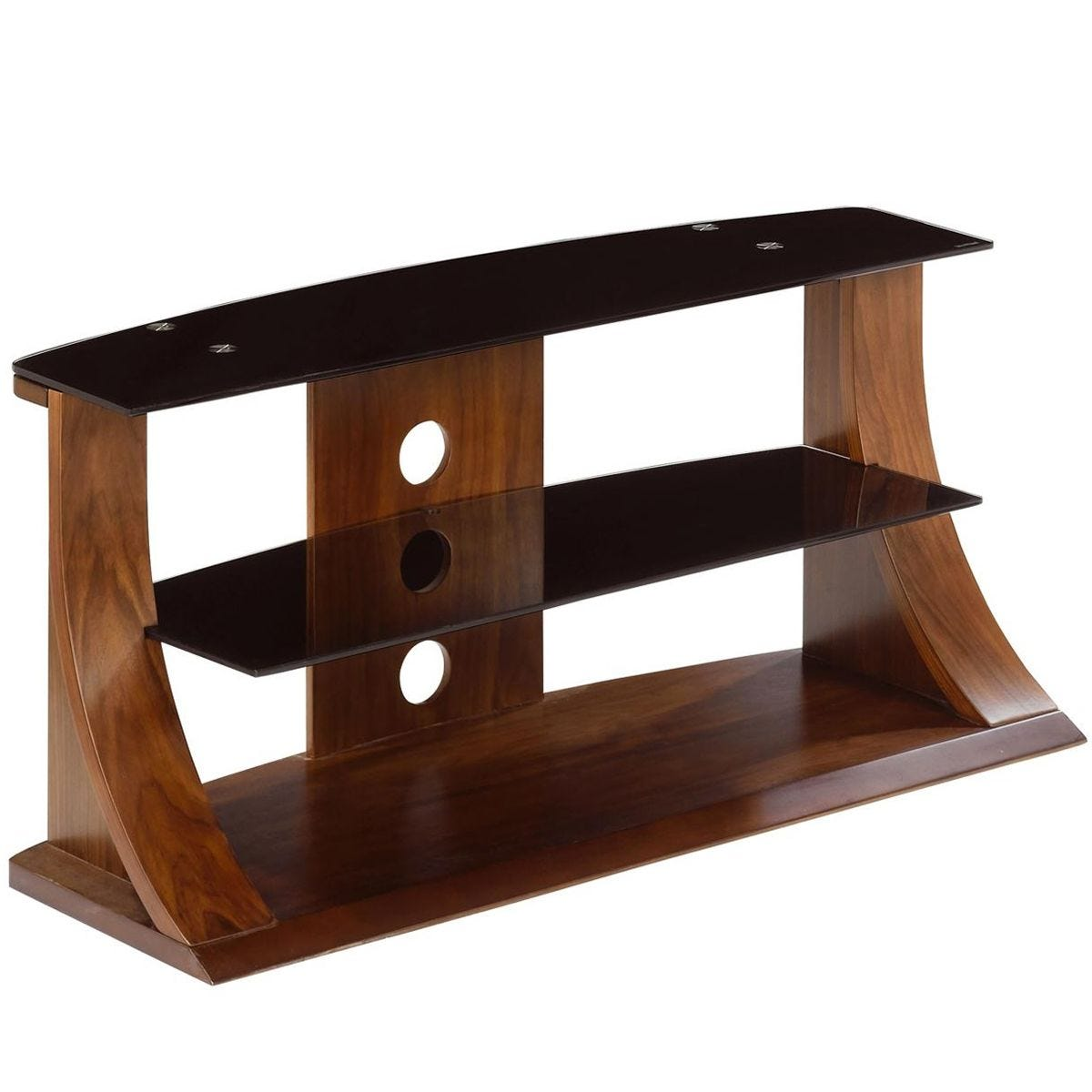 Jual Florence Curve Walnut TV Stand 850