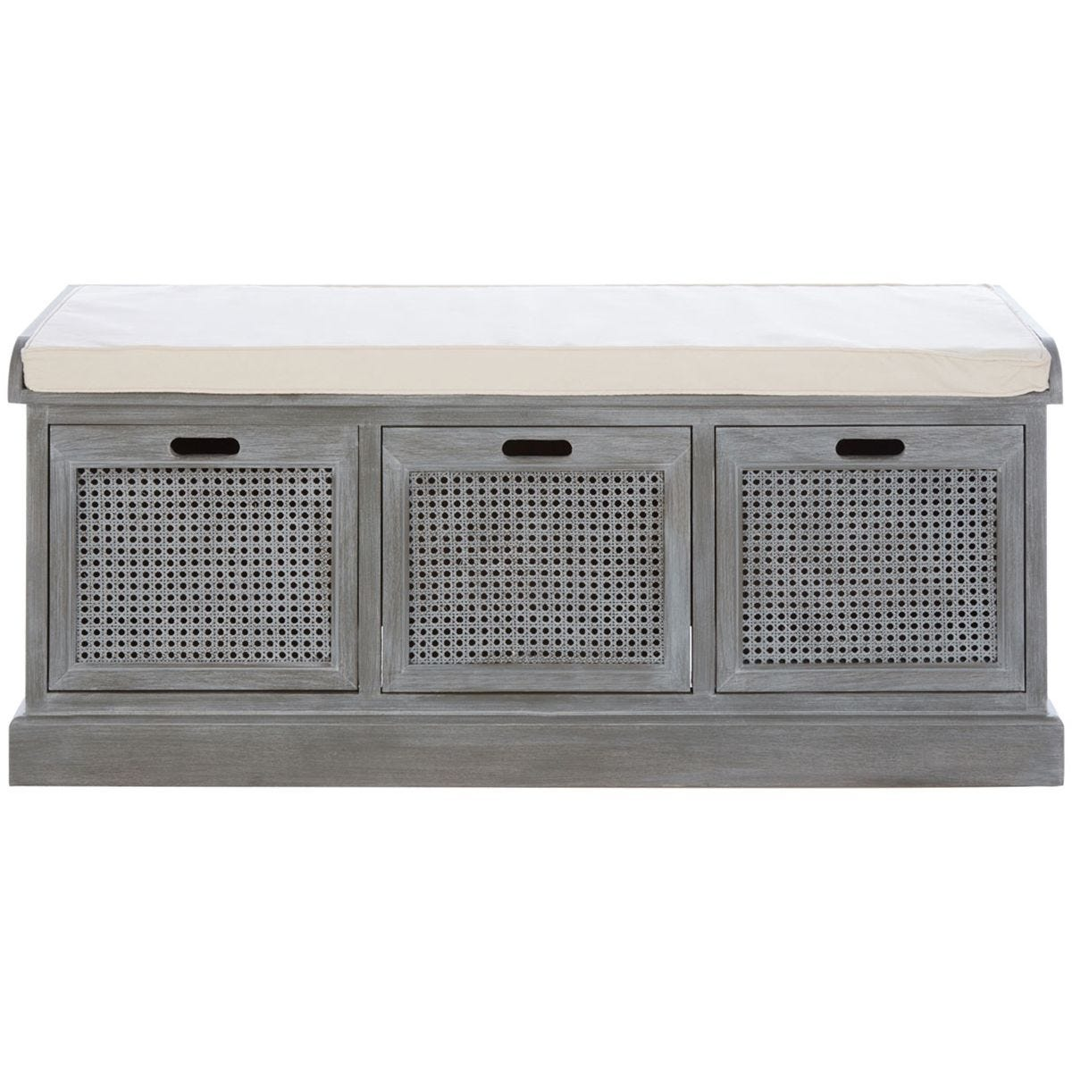 Heritage Storage Bench 3 Drawer Slate Grey