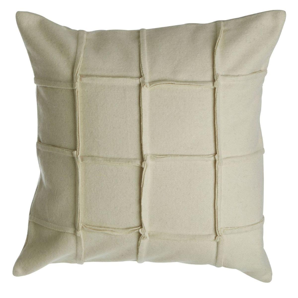 Premier Housewares Hampstead Felt Square Cushion - Cream