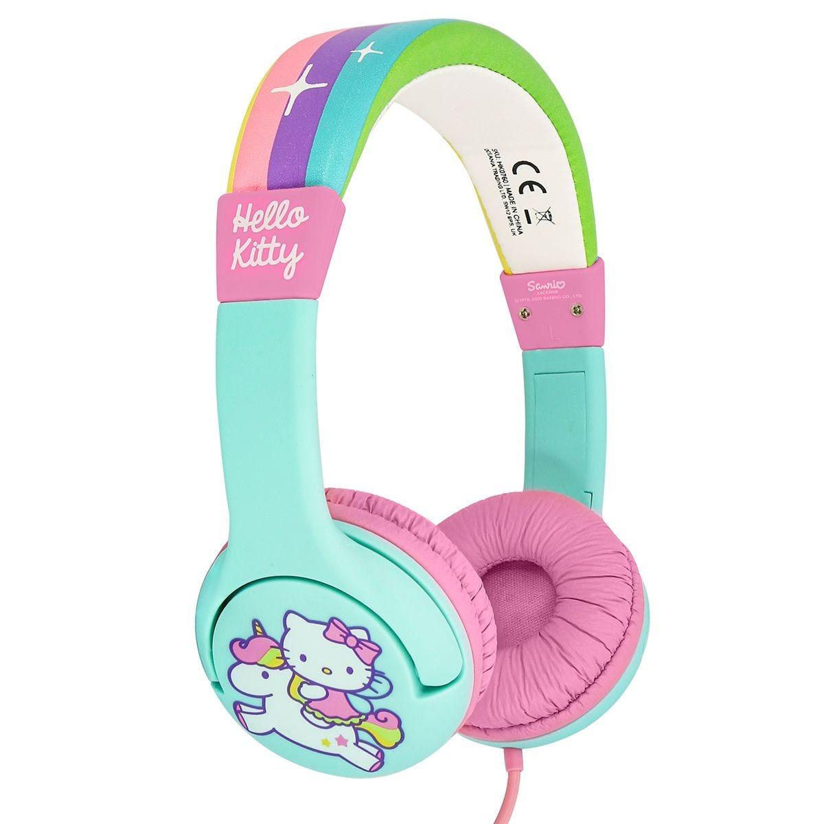 OTL Rainbow Kitty Pink Kids Headphones
