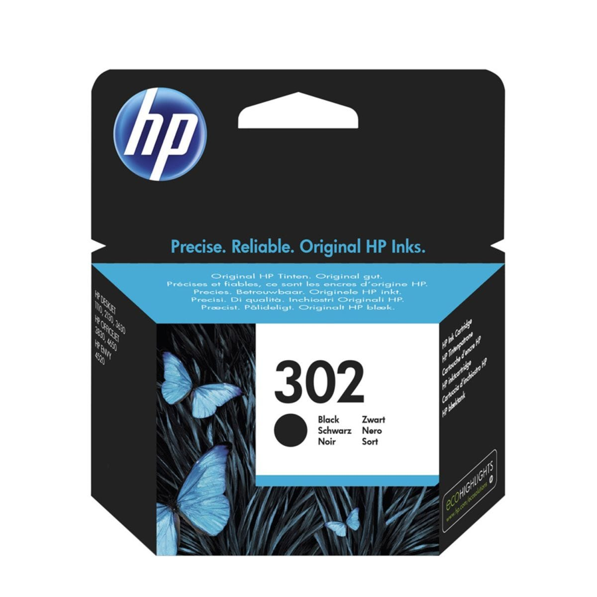HP Hewlett-Packard 302 Black Ink cartridge