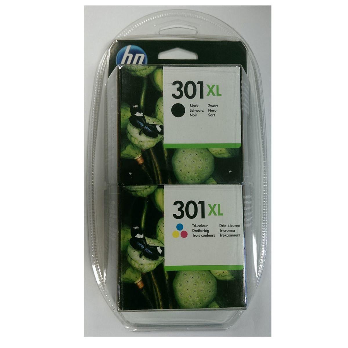 HP Hewlett-Packard 301XL Combo Pack Ink Cartridges