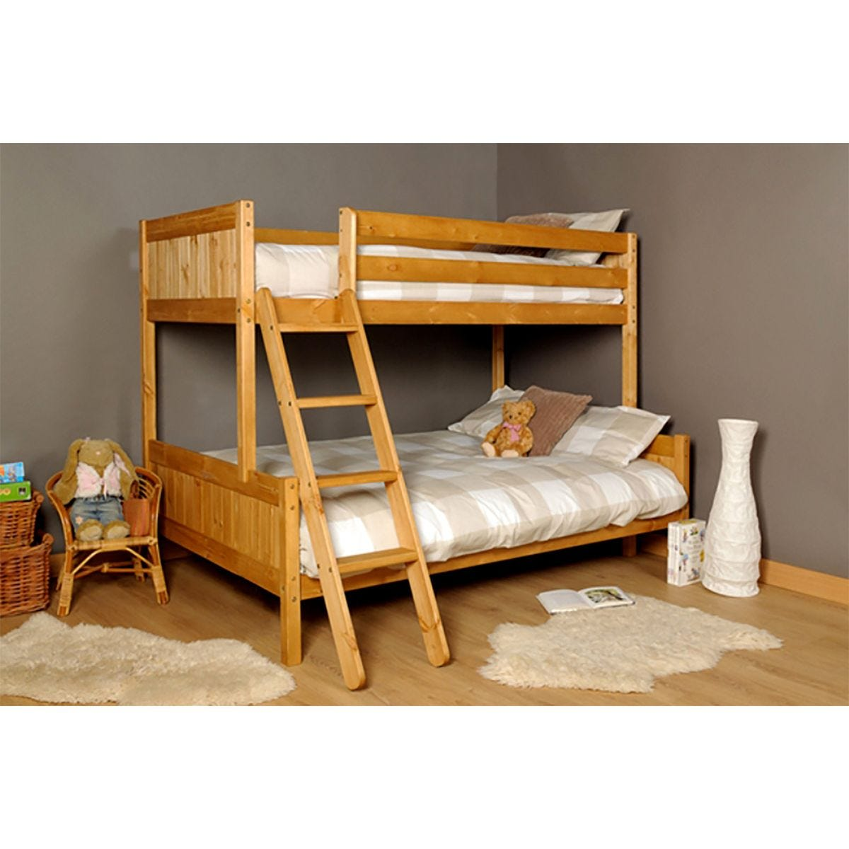 Islington Single Triple Bunk Bed - Caramel