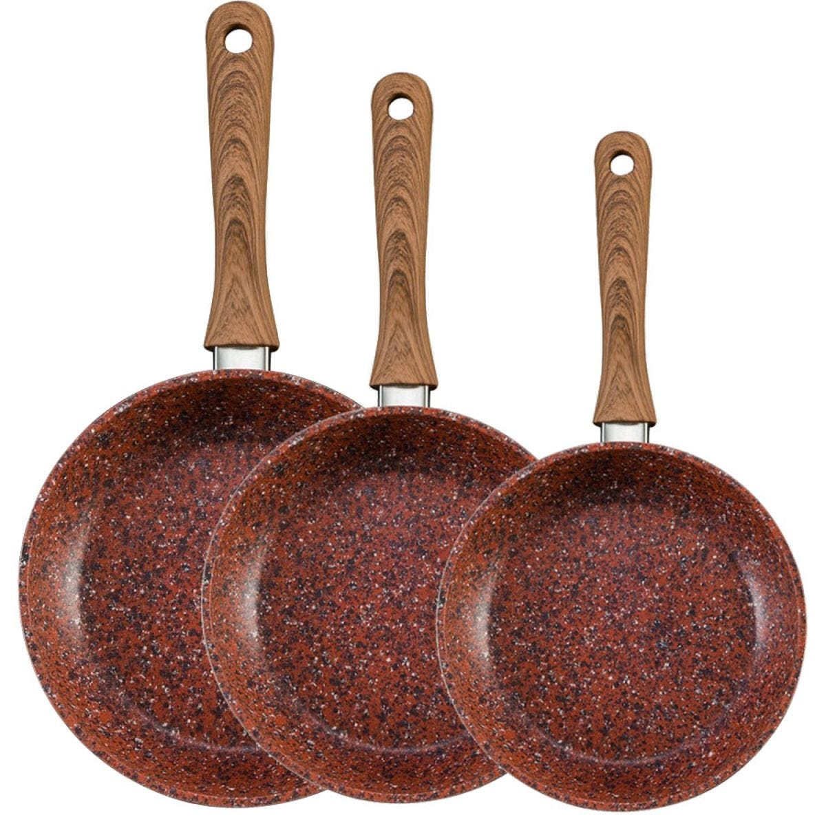 JML Copper Stone Non-Stick Frying Pan Set