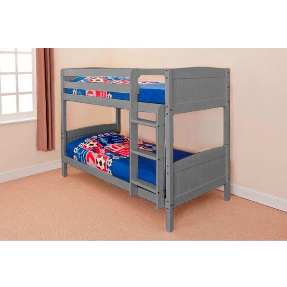 Kensington Single Bunk Bed - Grey