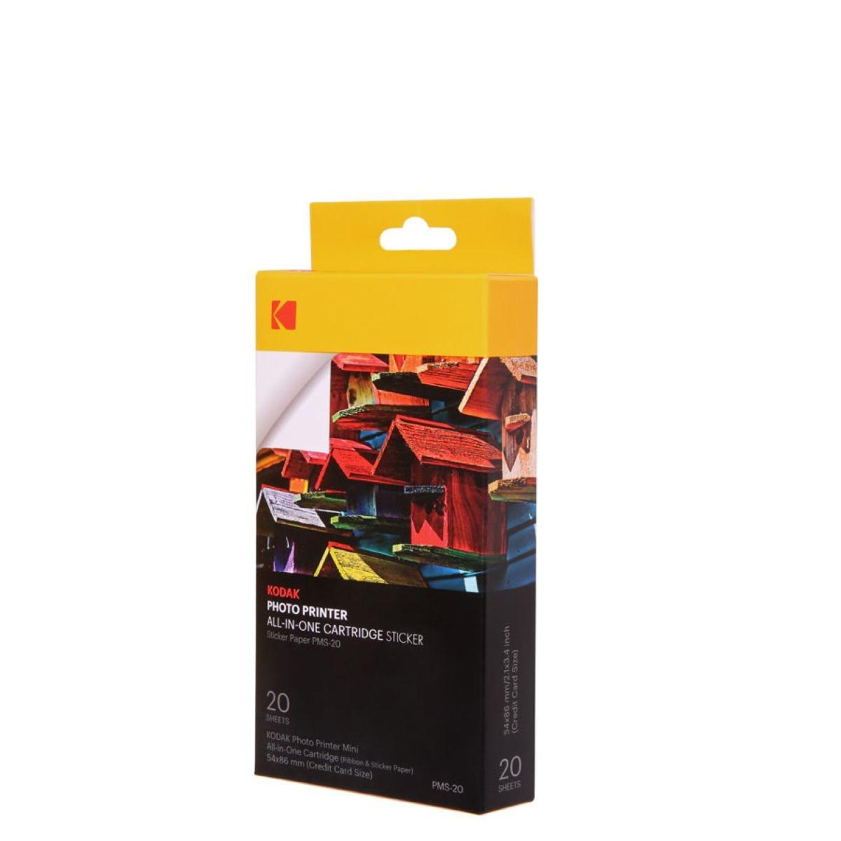 Kodak Mini Photo Printer Cartridge – 20 Pack / Sticky