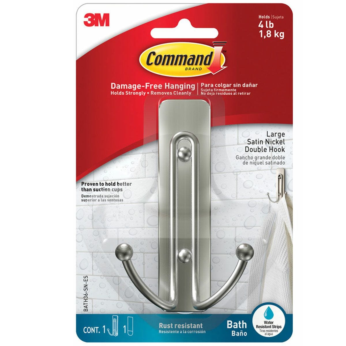 3M Command Large Bathroom Hooks