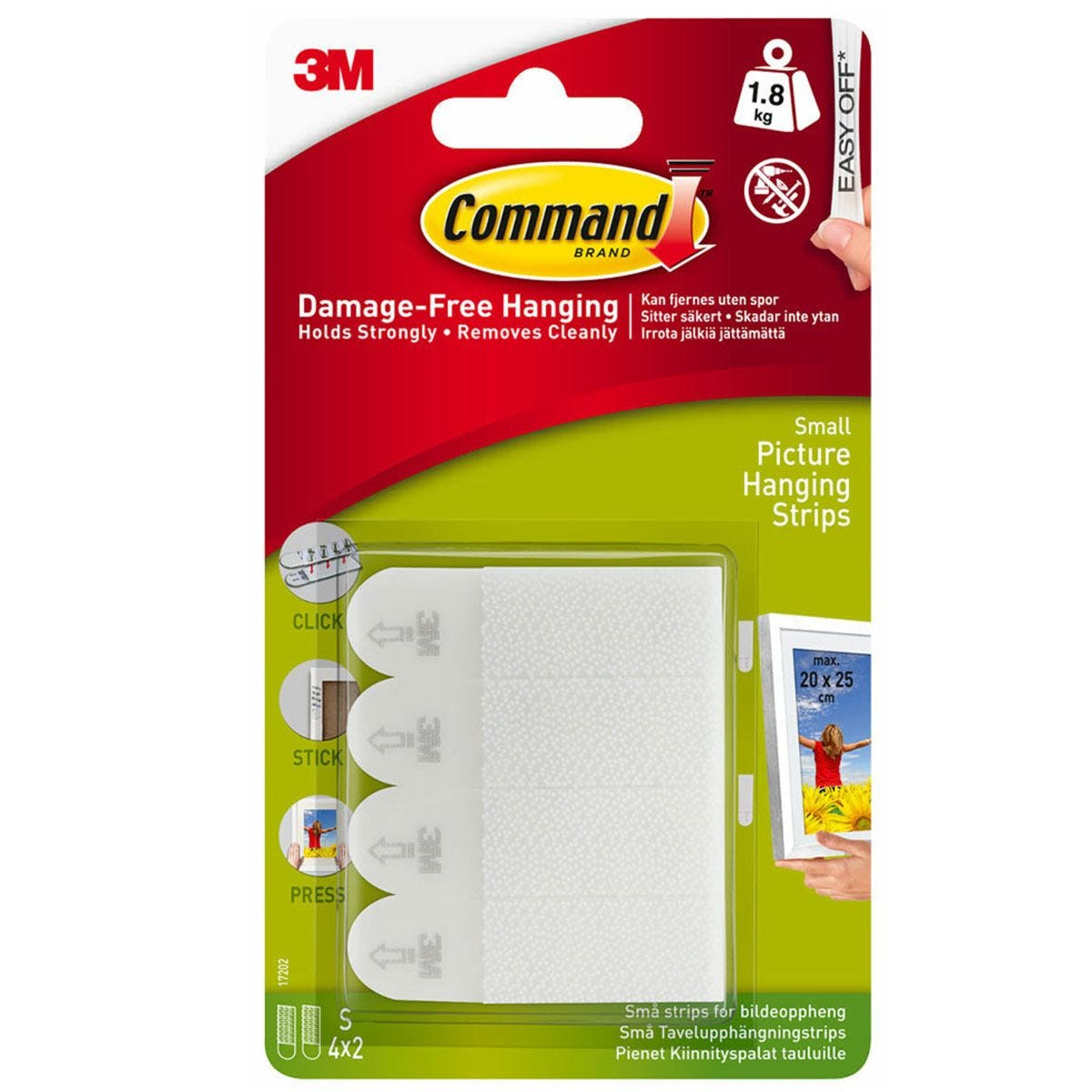 3M Command Small Picture Hanging Strips - 4 Pack