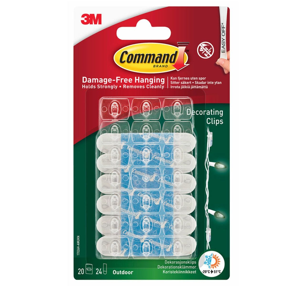 3M Command Outdoor Decorating Clip