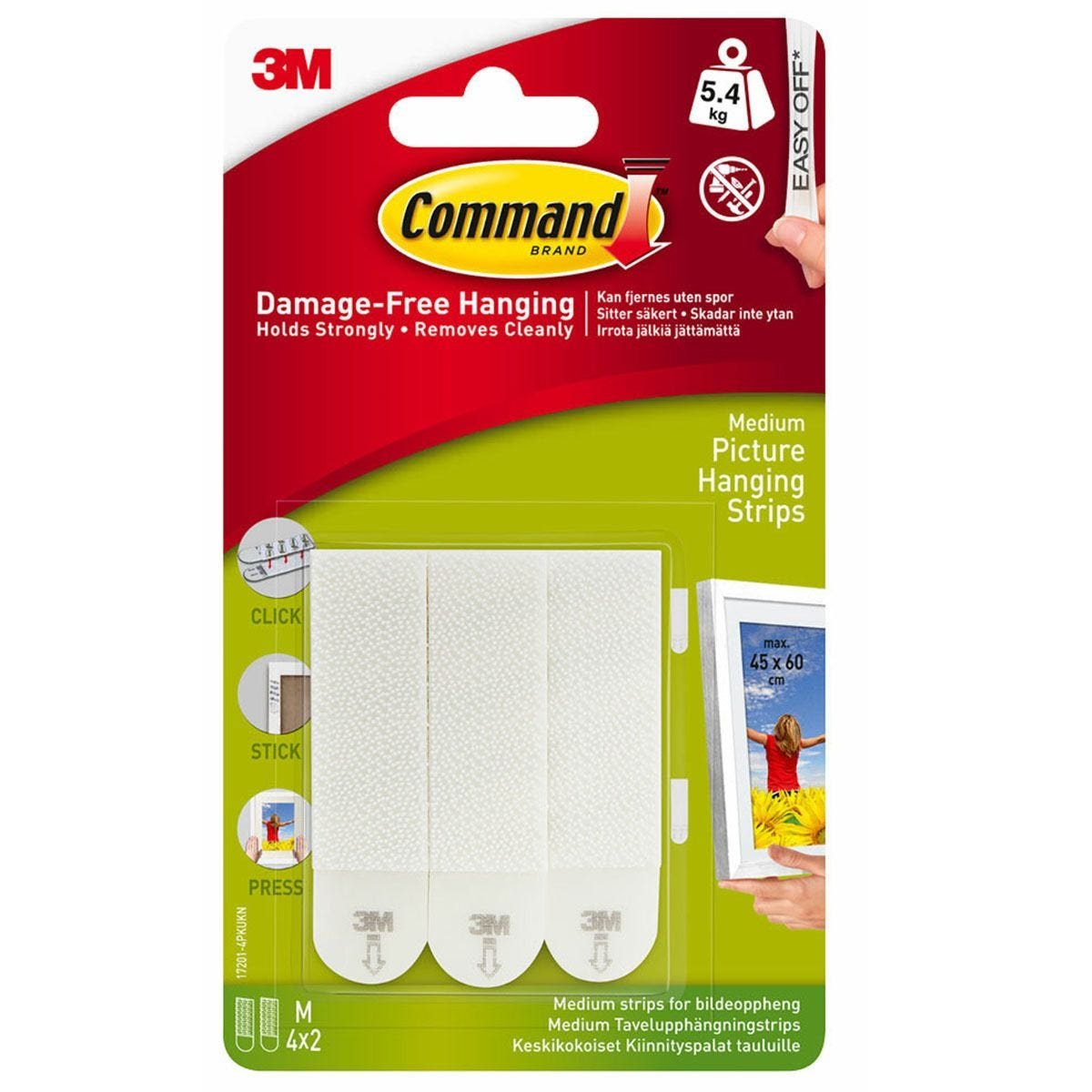 3M Command Medium Picture Hanging Strips - 4 Pack