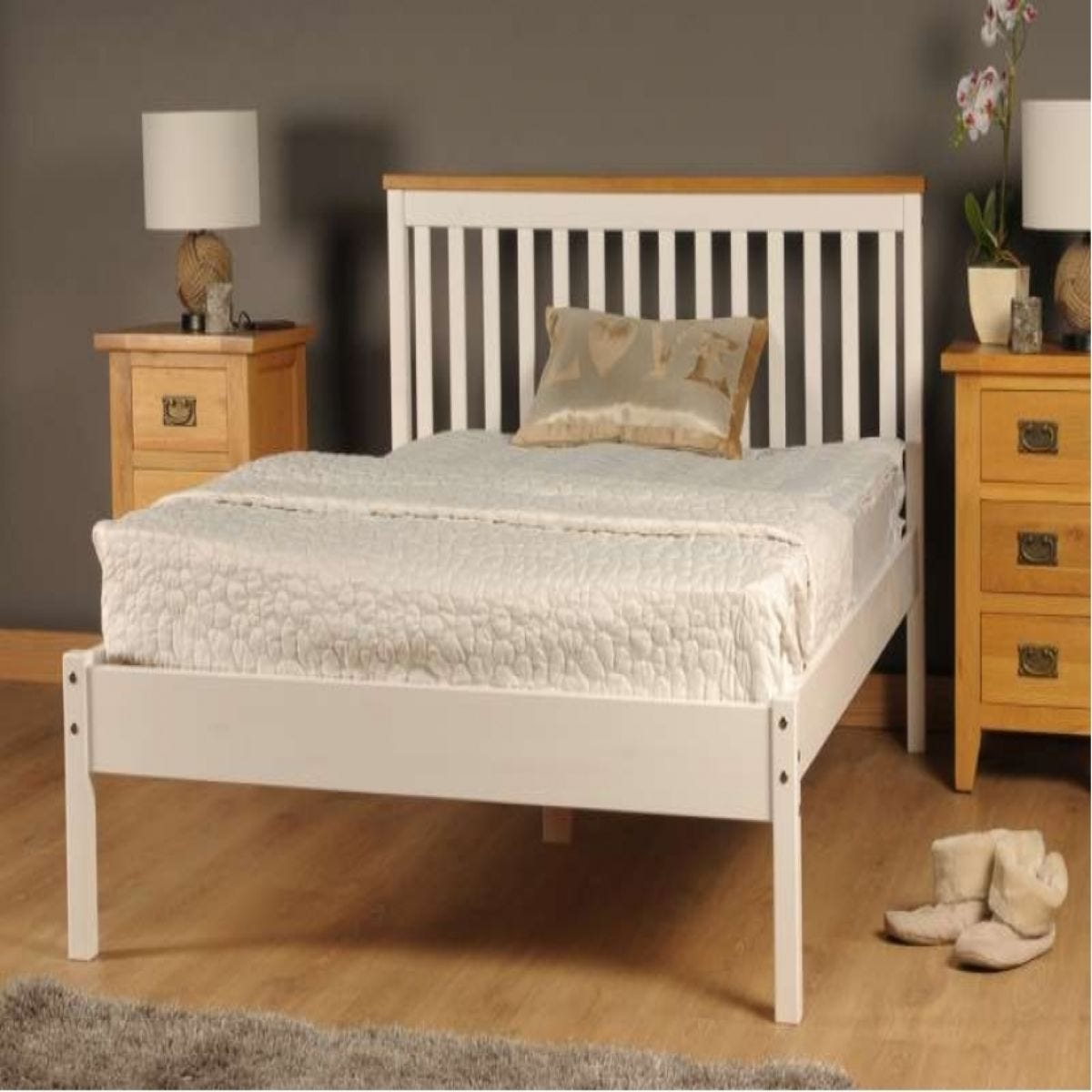 Riga Bed Frame - White