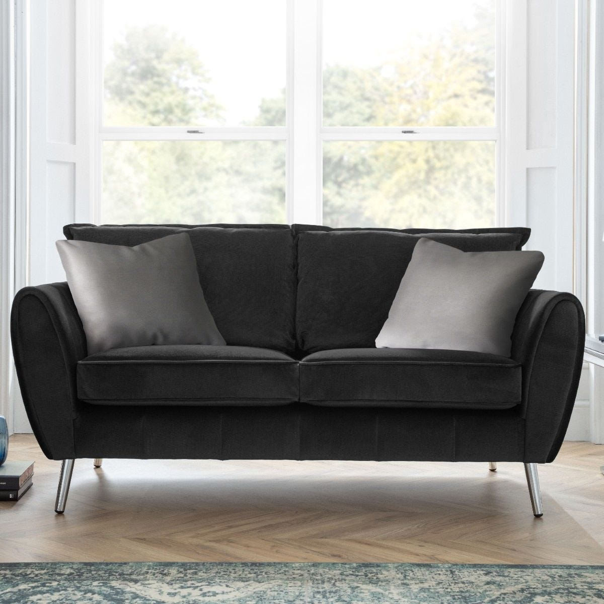 Toulouse 2 Seater Sofa Malta Black