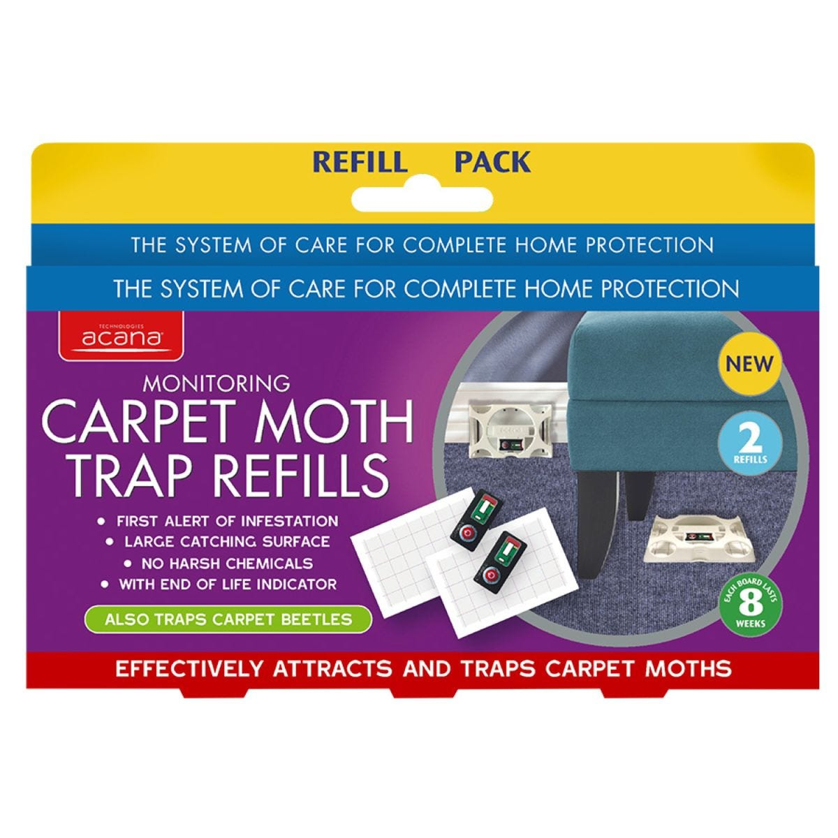 Acana Carpet Moth Trap Refills - Pack of 2