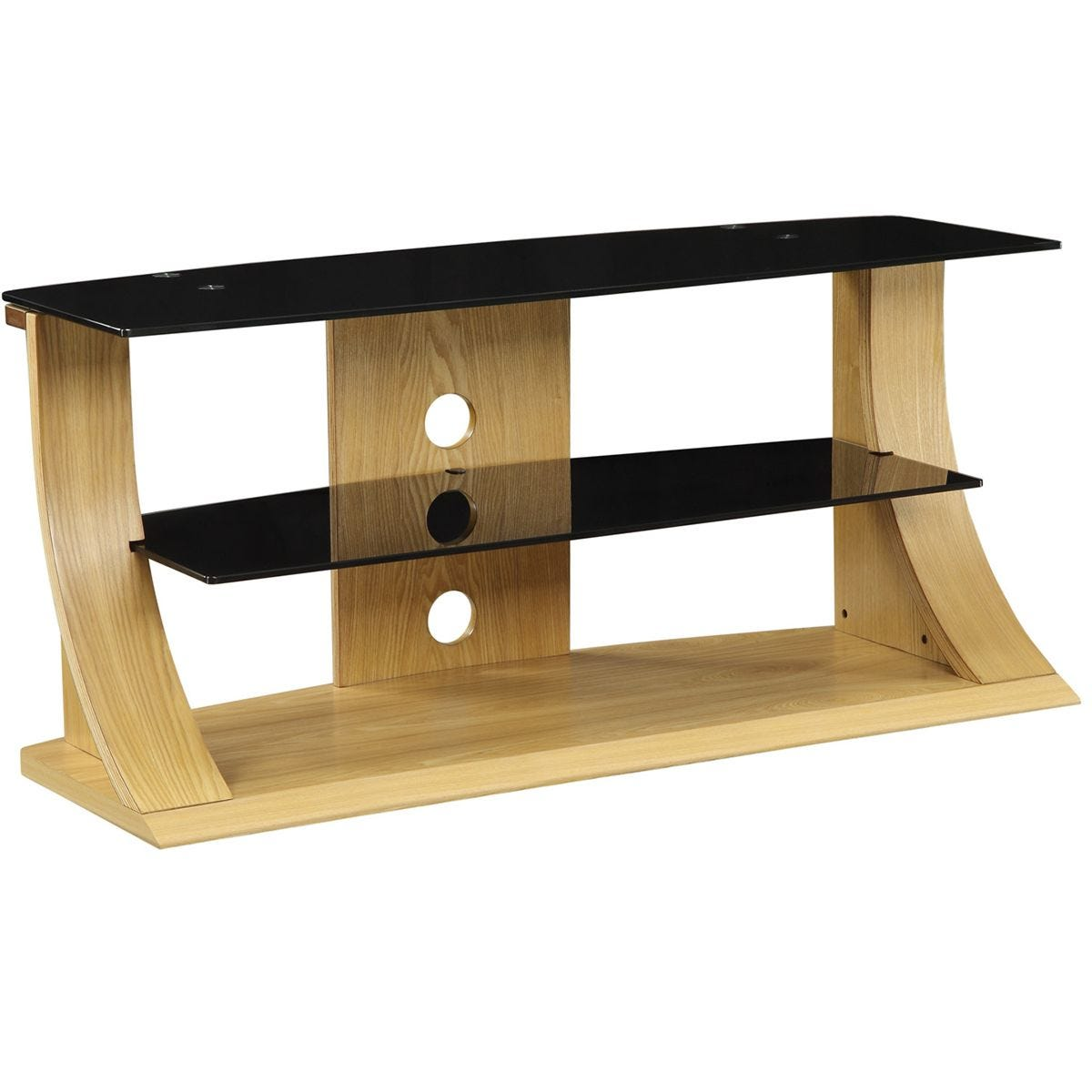 Jual Florence Curve Oak TV Stand 1100