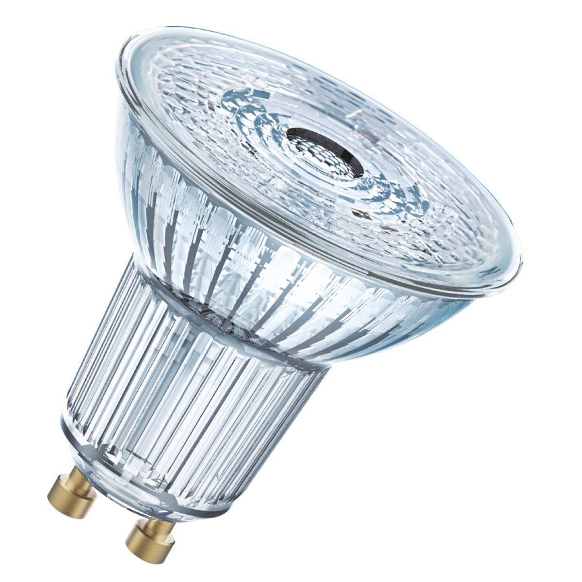 Osram Clear 50W Equivalent LED GU10 Bulbs, Warm White - 3 Pack
