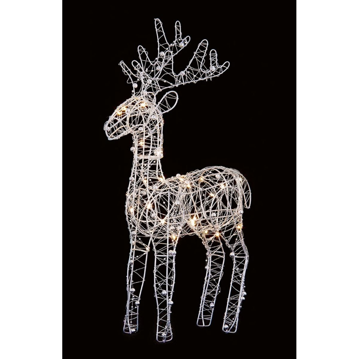 Premier Decorations Ltd Wire Reindeer with 30 LEDs - 45cm