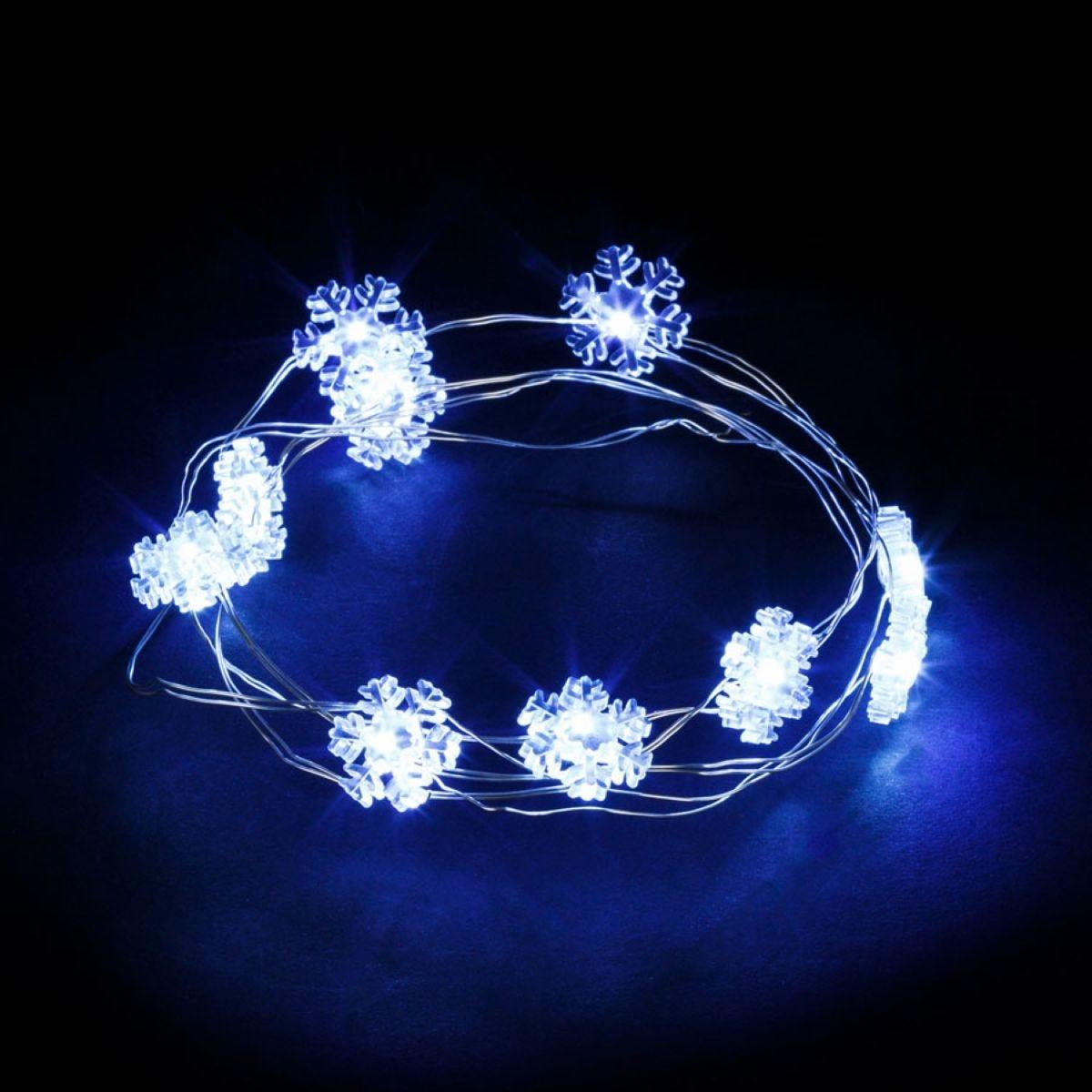 Robert Dyas 20 String Lights Snowflake - Ice White