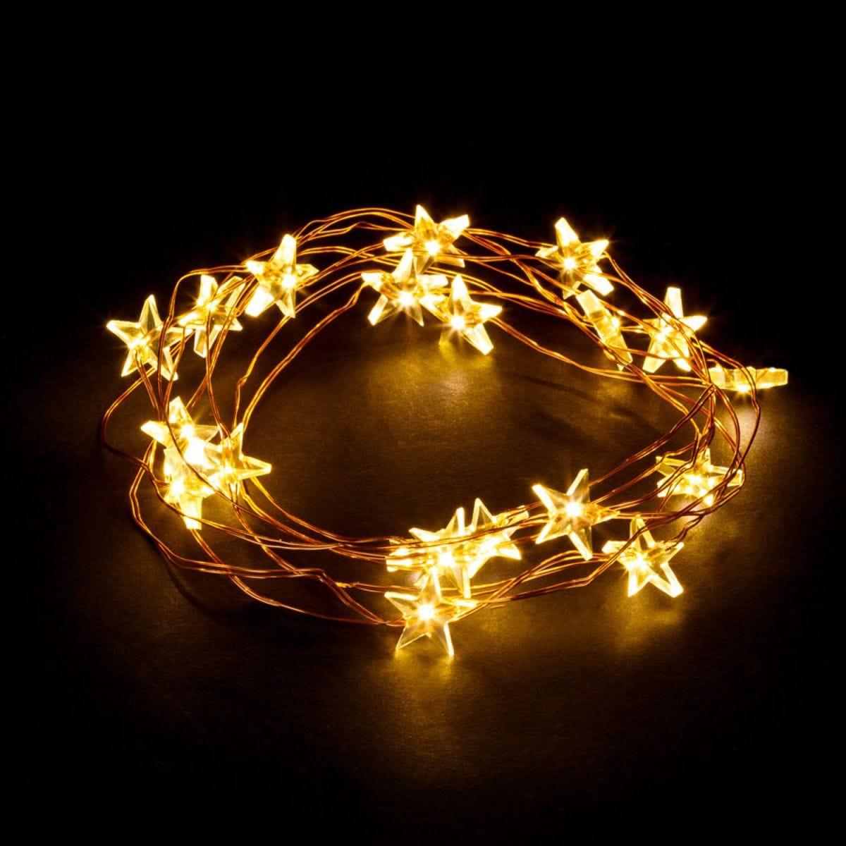 Robert Dyas 20 String Star Lights - Warm White