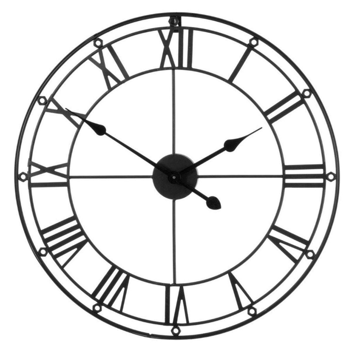 Metal Wall Clock - Matte Black