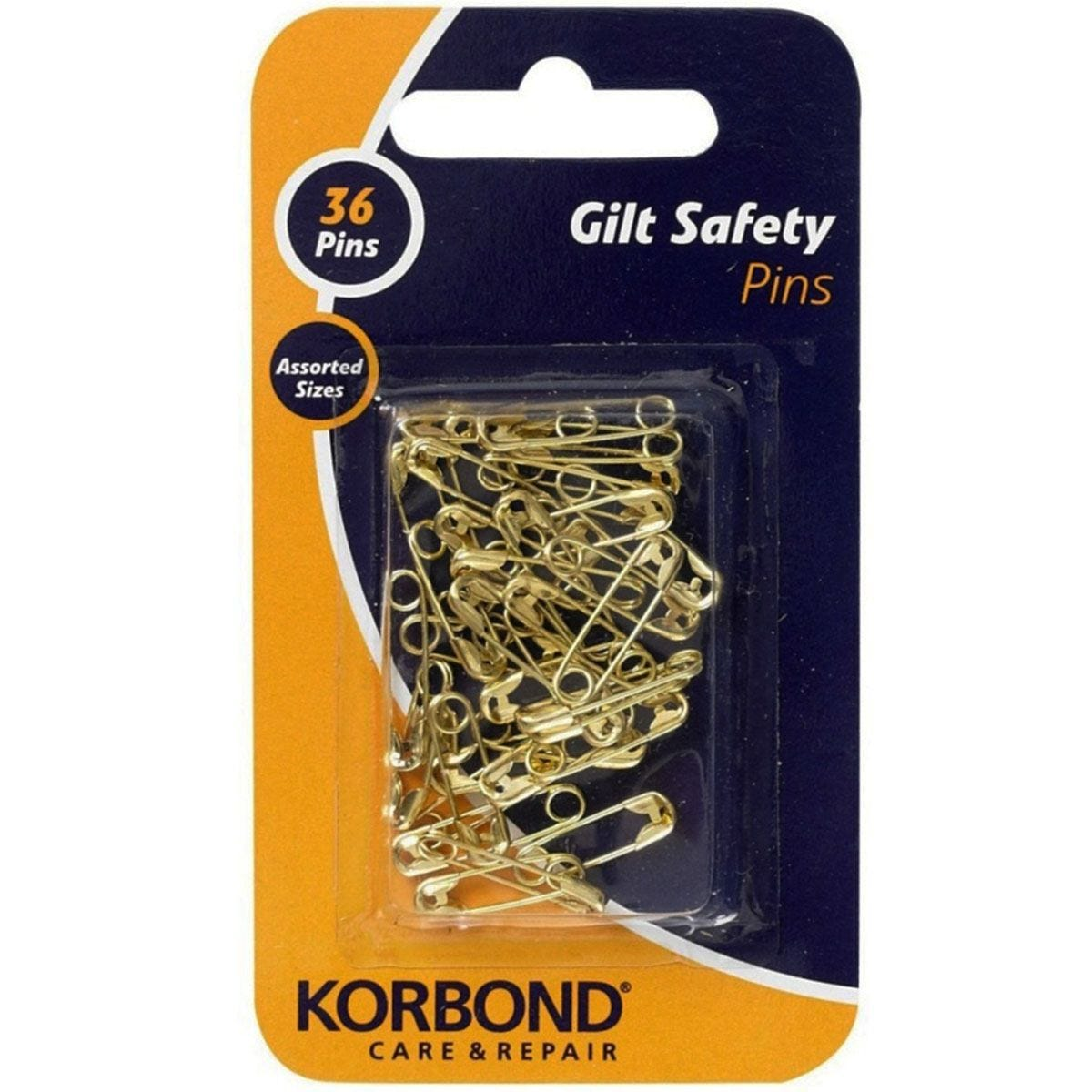Korbond Gilted Safety Pins