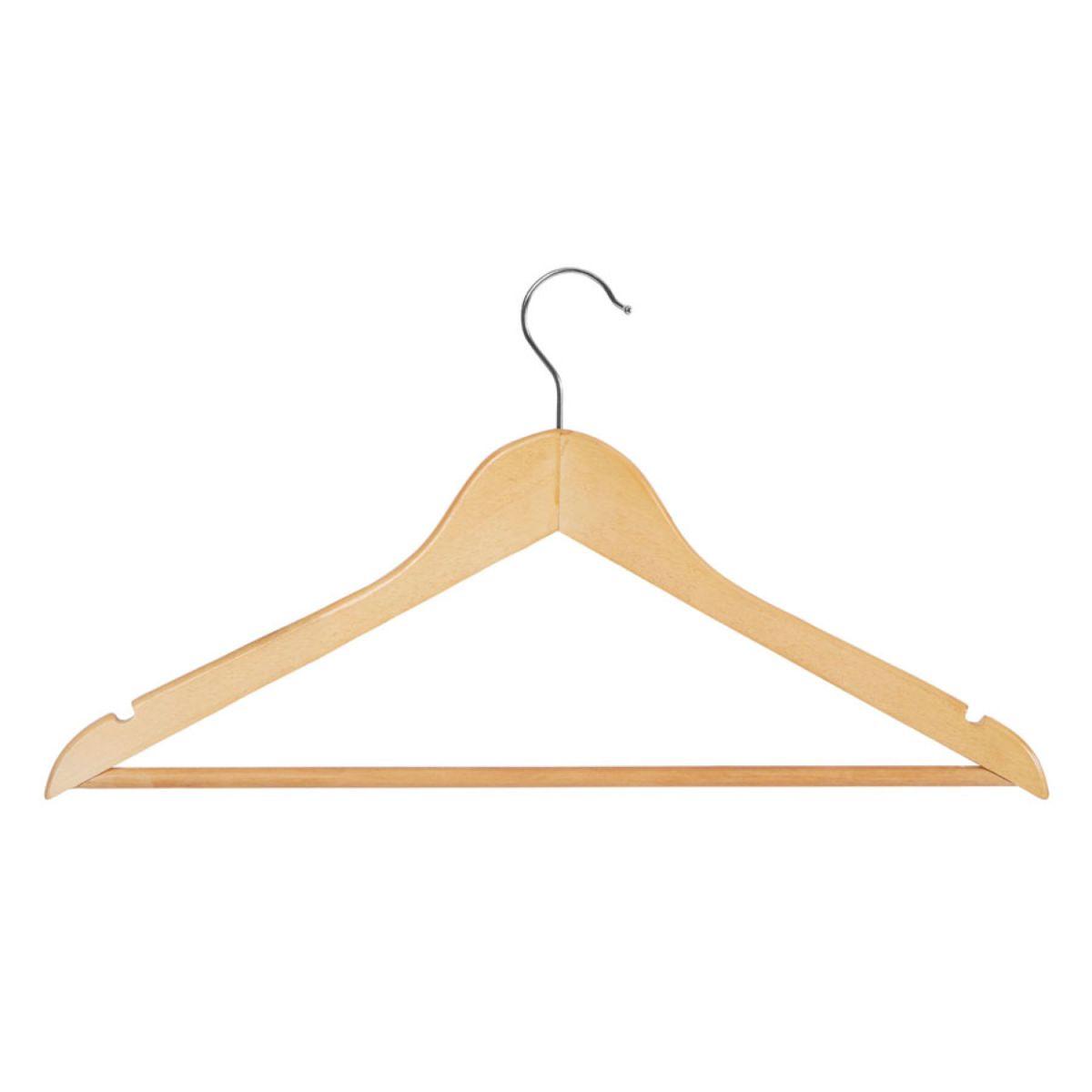 Premier Housewares Wooden Clothes Hangers – Set of 20