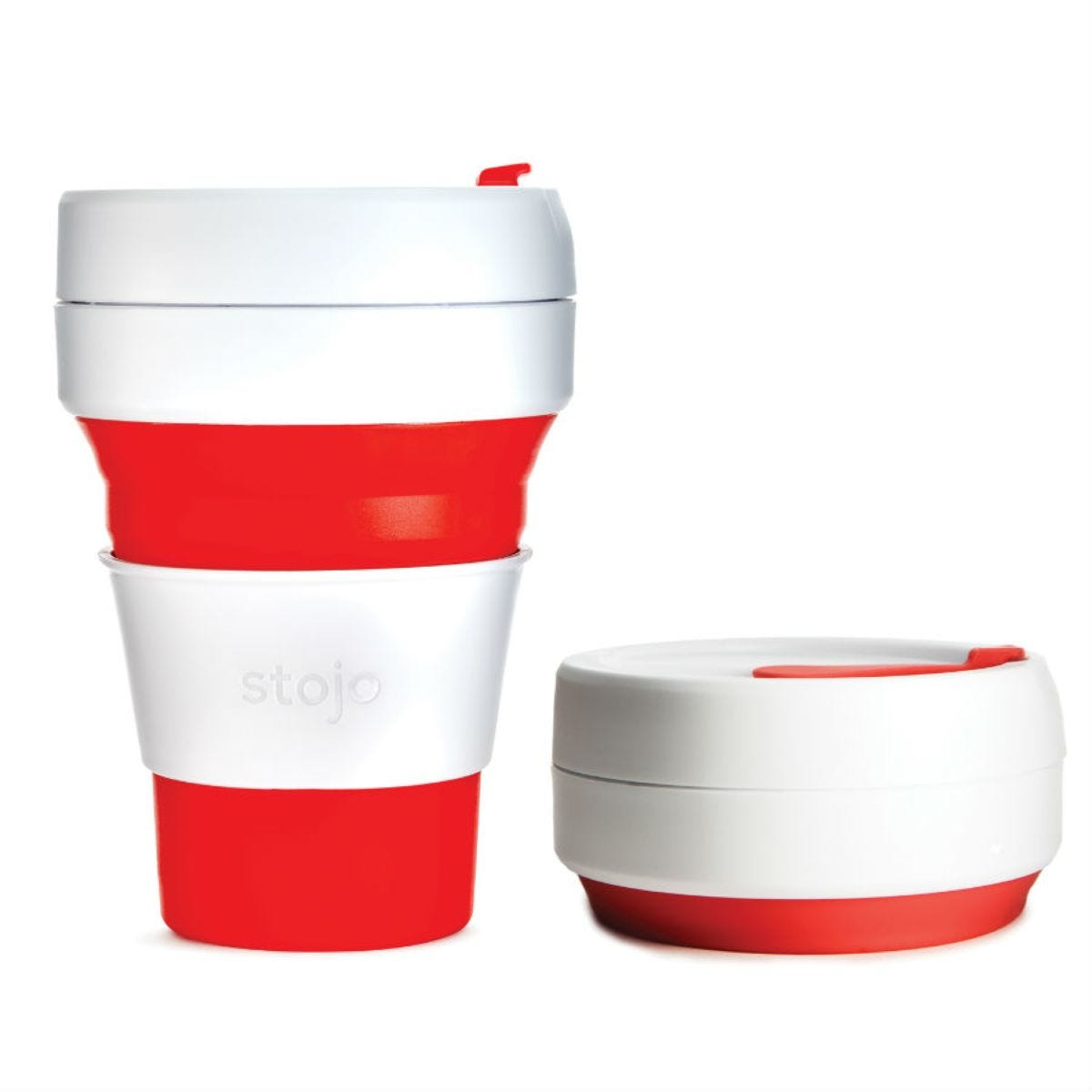 Stojo Collapsible Pocket Cup – Red