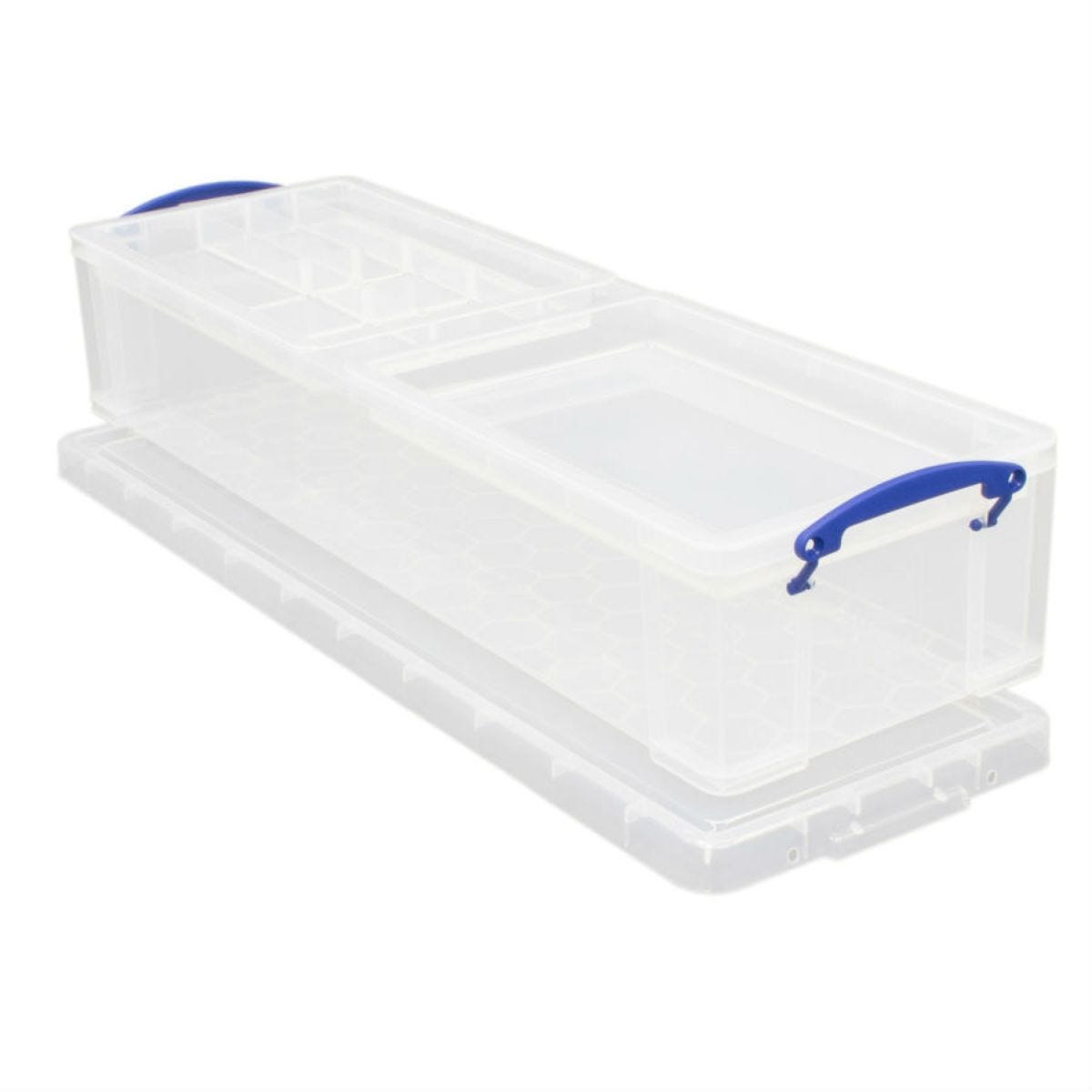 Really Useful 22L Wrapping Paper Storage Box - Clear