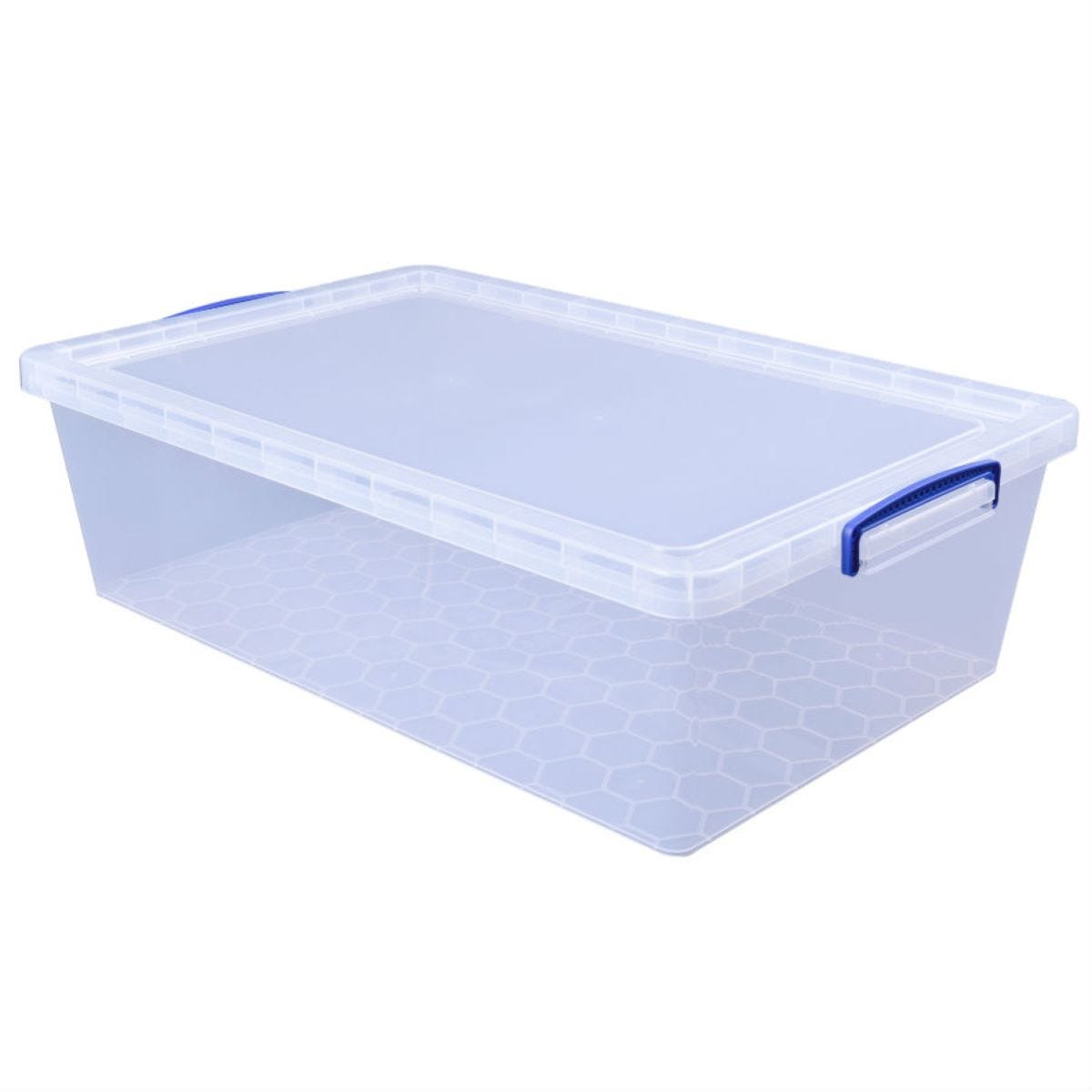 Really Useful 43L Under-Bed Storage Box - Clear