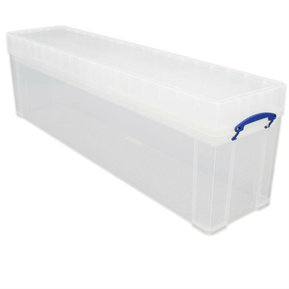 Really Useful 77L Stackable Storage Box with Trays - Clear