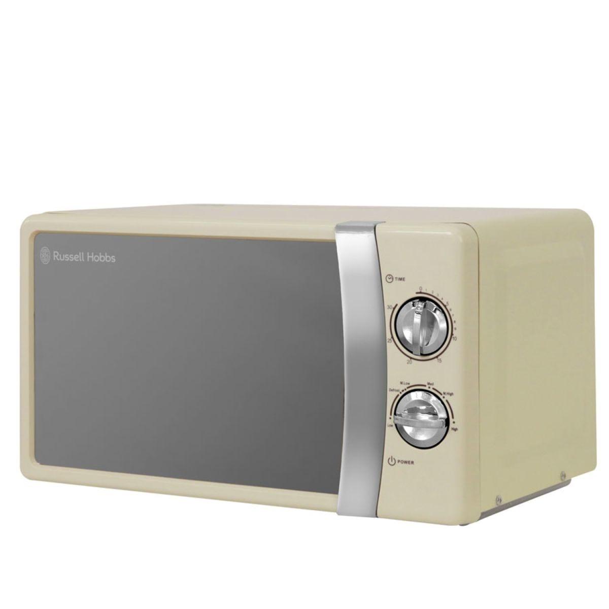 Russell Hobbs 700W 17L Manual Microwave - Cream