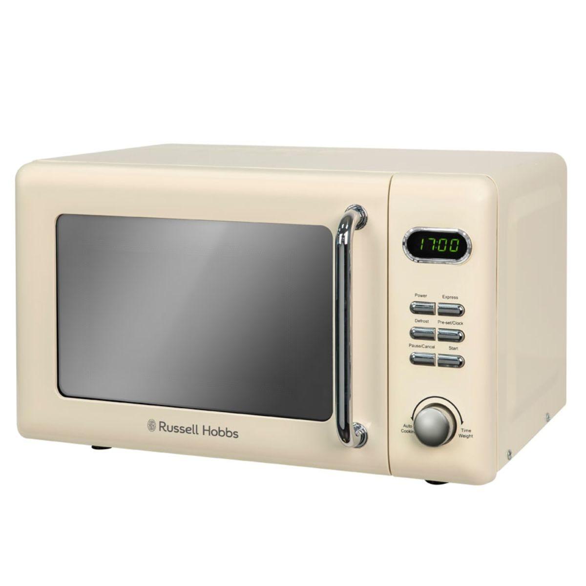 Russell Hobbs 700W 17L Retro Digital Microwave - Cream