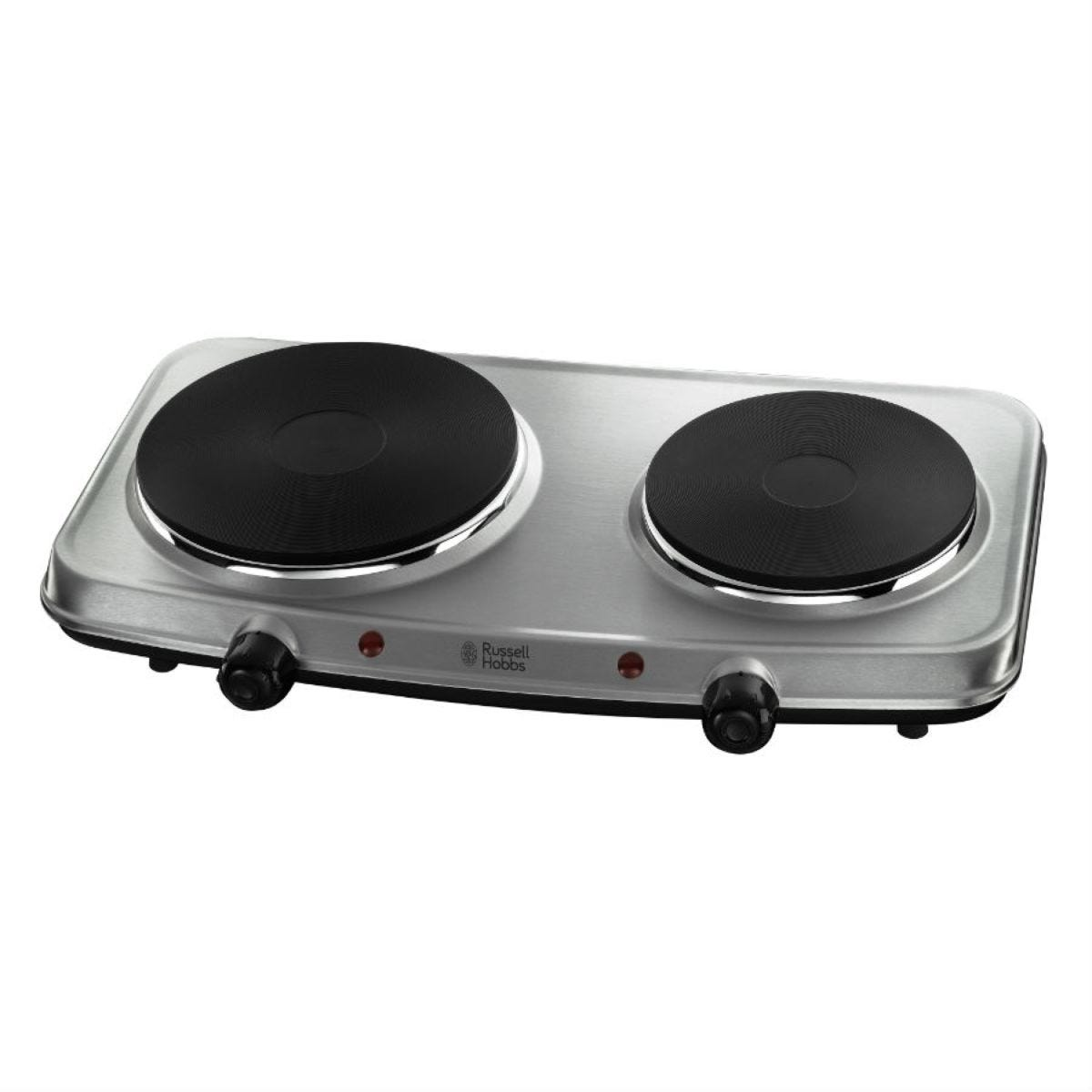 Russell Hobbs 15199 2 Plate Mini 2250W Electric Hob - Stainless Steel