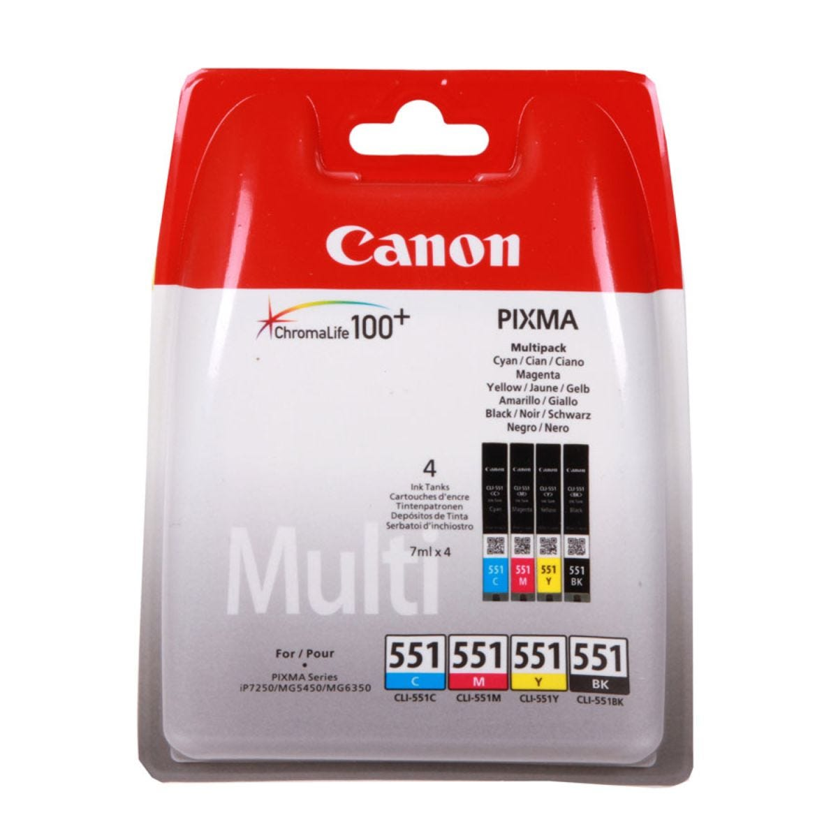 Canon CLI-551 Ink Cartridge – Multipack