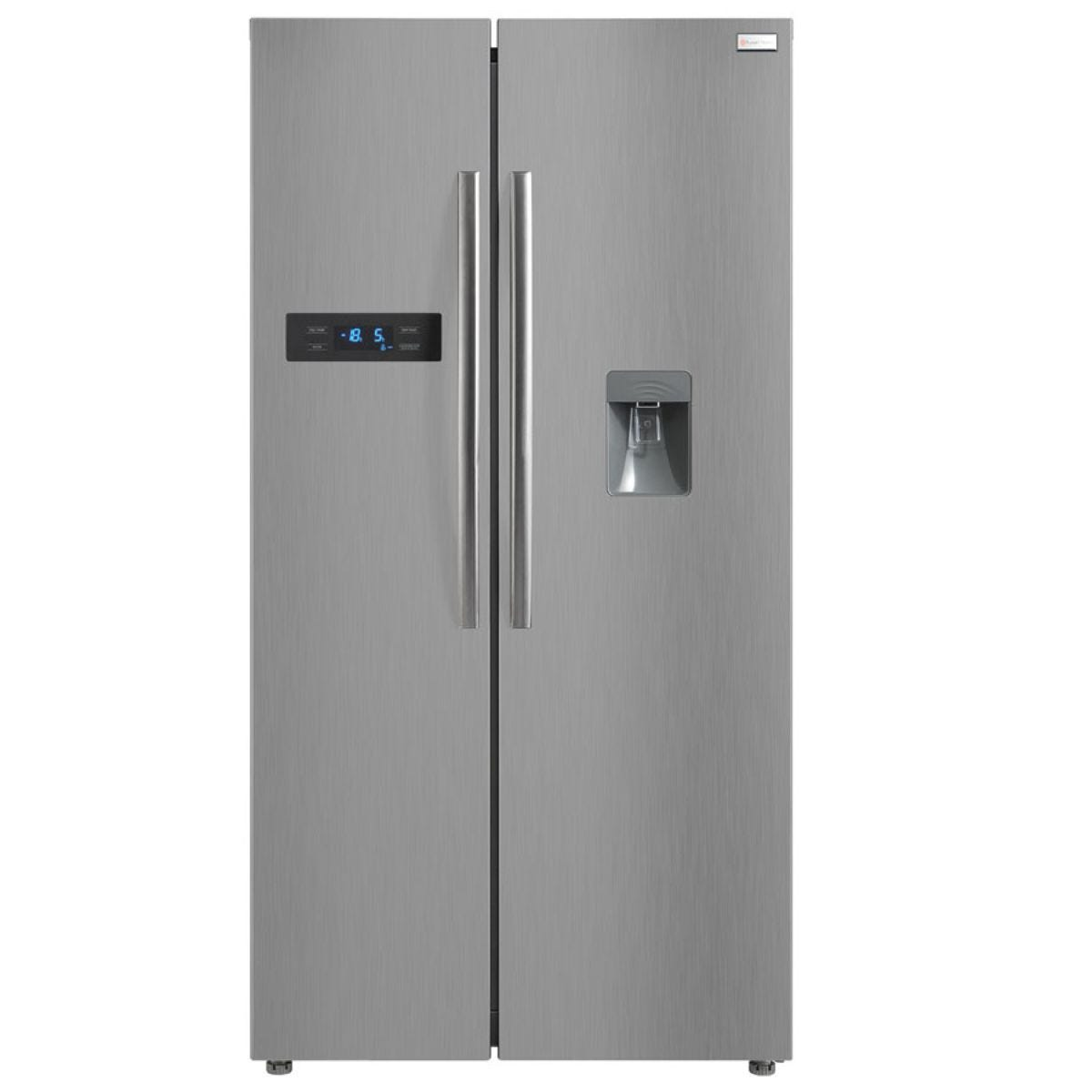 Russell Hobbs RH90FF176SS-WD 513L American Style Fridge Freezer with Water Dispenser - Stainless Steel