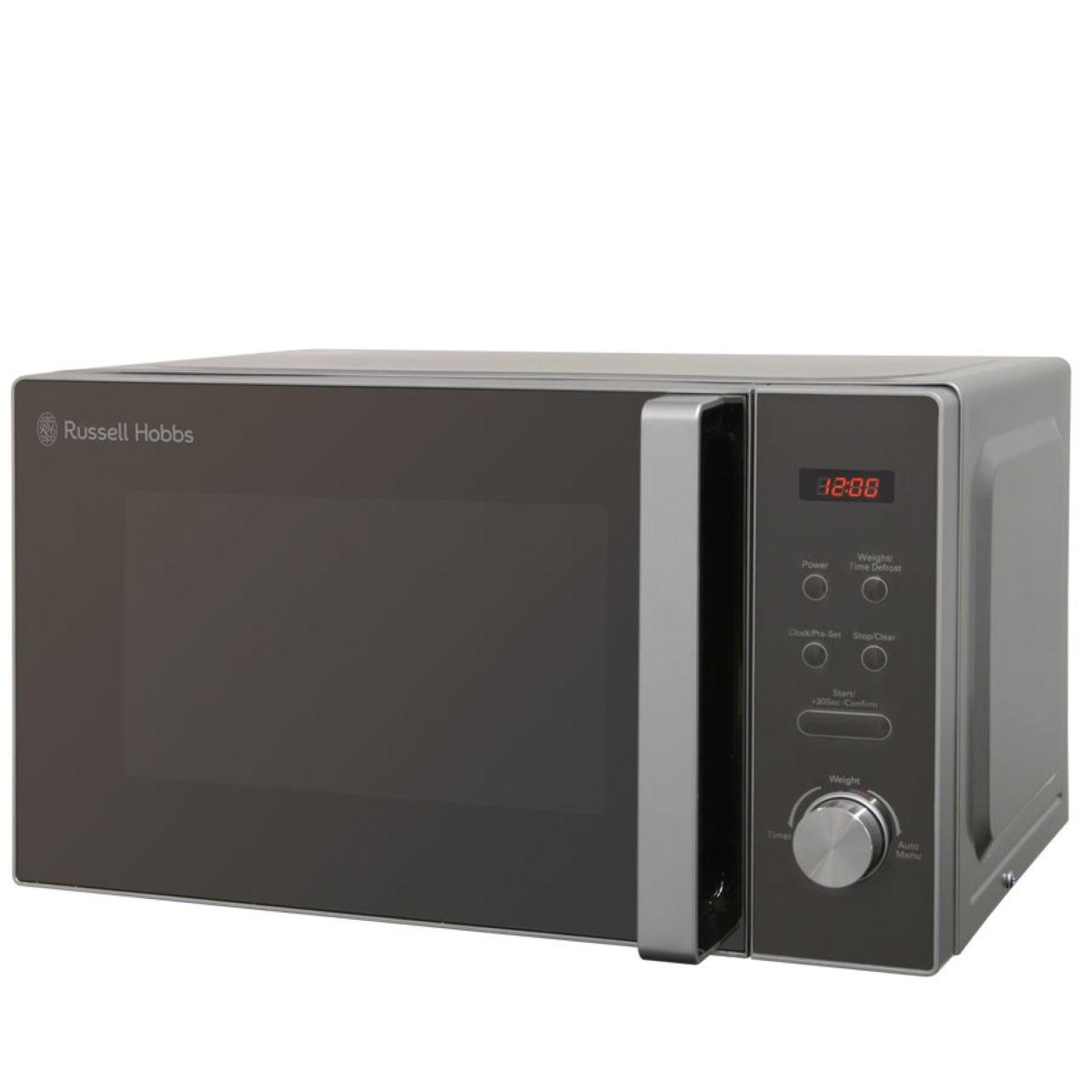 Russell Hobbs RHM2076S 800W 20L Digital Microwave – Silver & Black