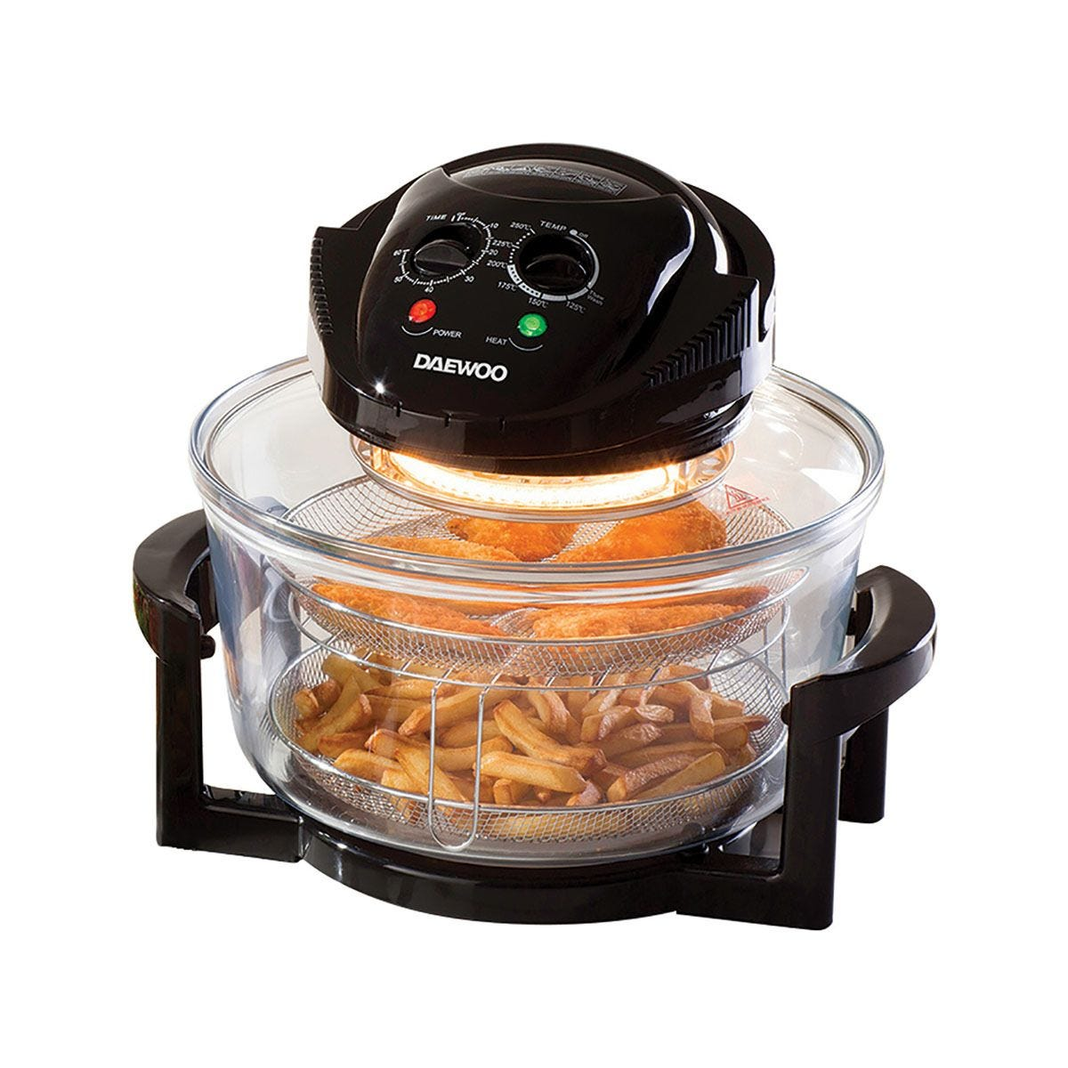 Daewoo 17L Halogen Air Fryer Low Fat Oven - Black