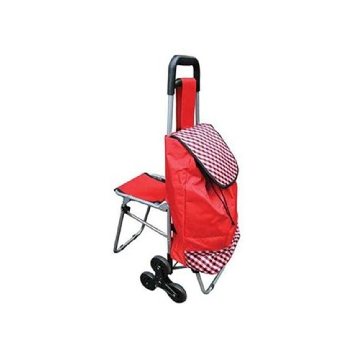 Active Living Shopping Trolley with Fold Down Seat