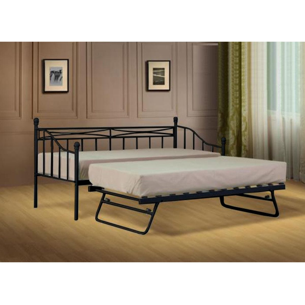 Silvana Single Day Bed Without Trundle - Black