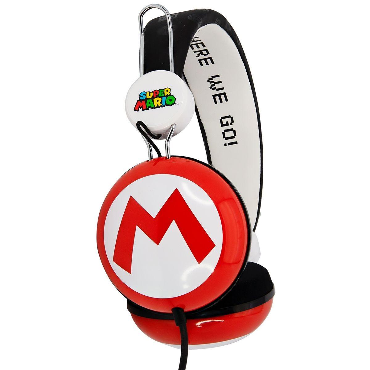 OTL Super Mario Icon Red/Black Teen Stereo Headphones