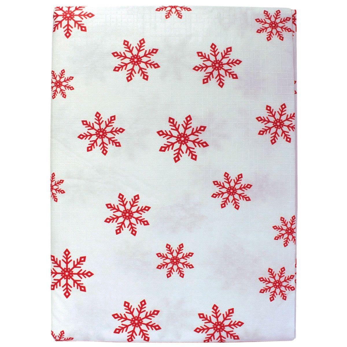Red Snowflake Peva Tablecloth