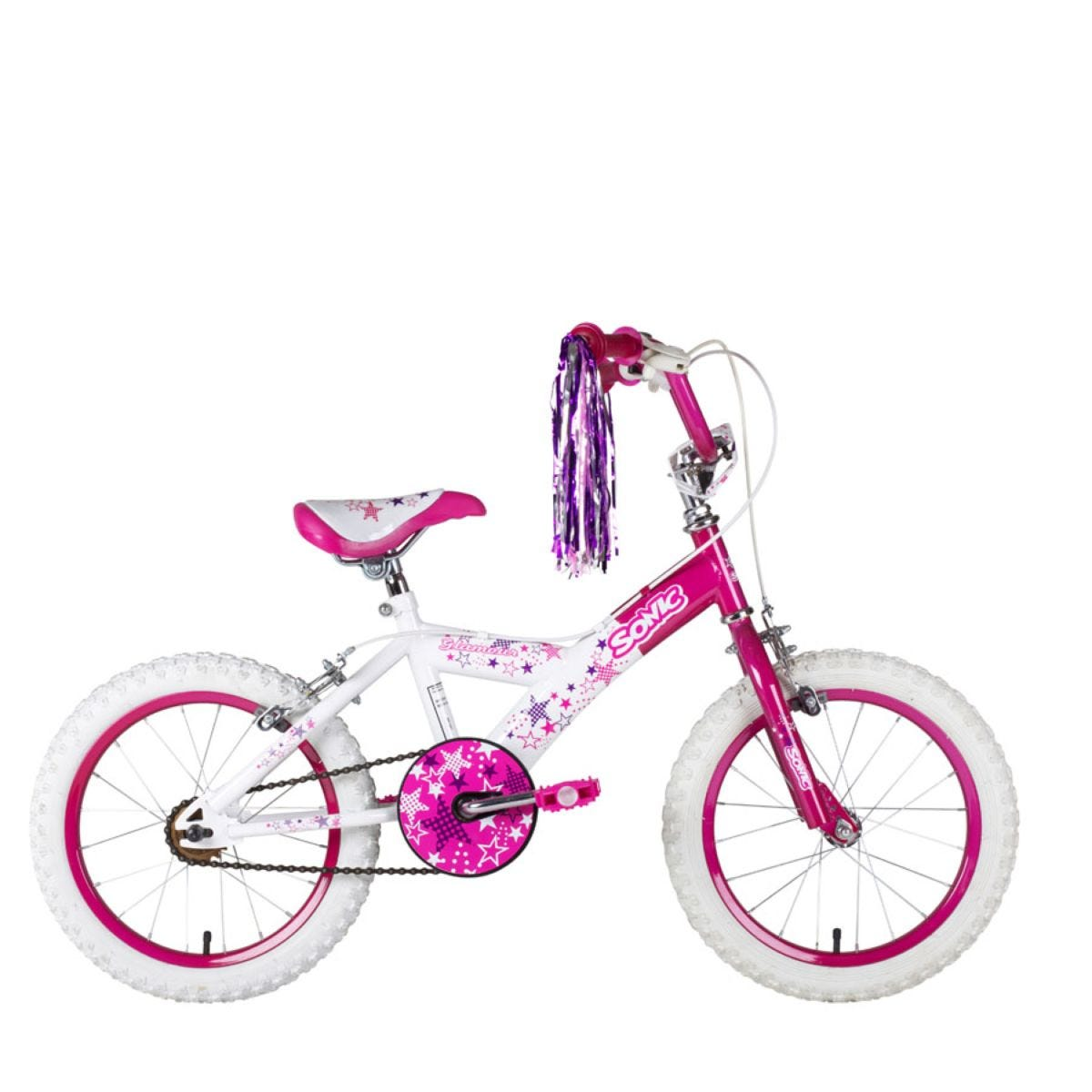 Sonic Glamour II 16 Inch Wheel Girls Bike Single Speed - Pink