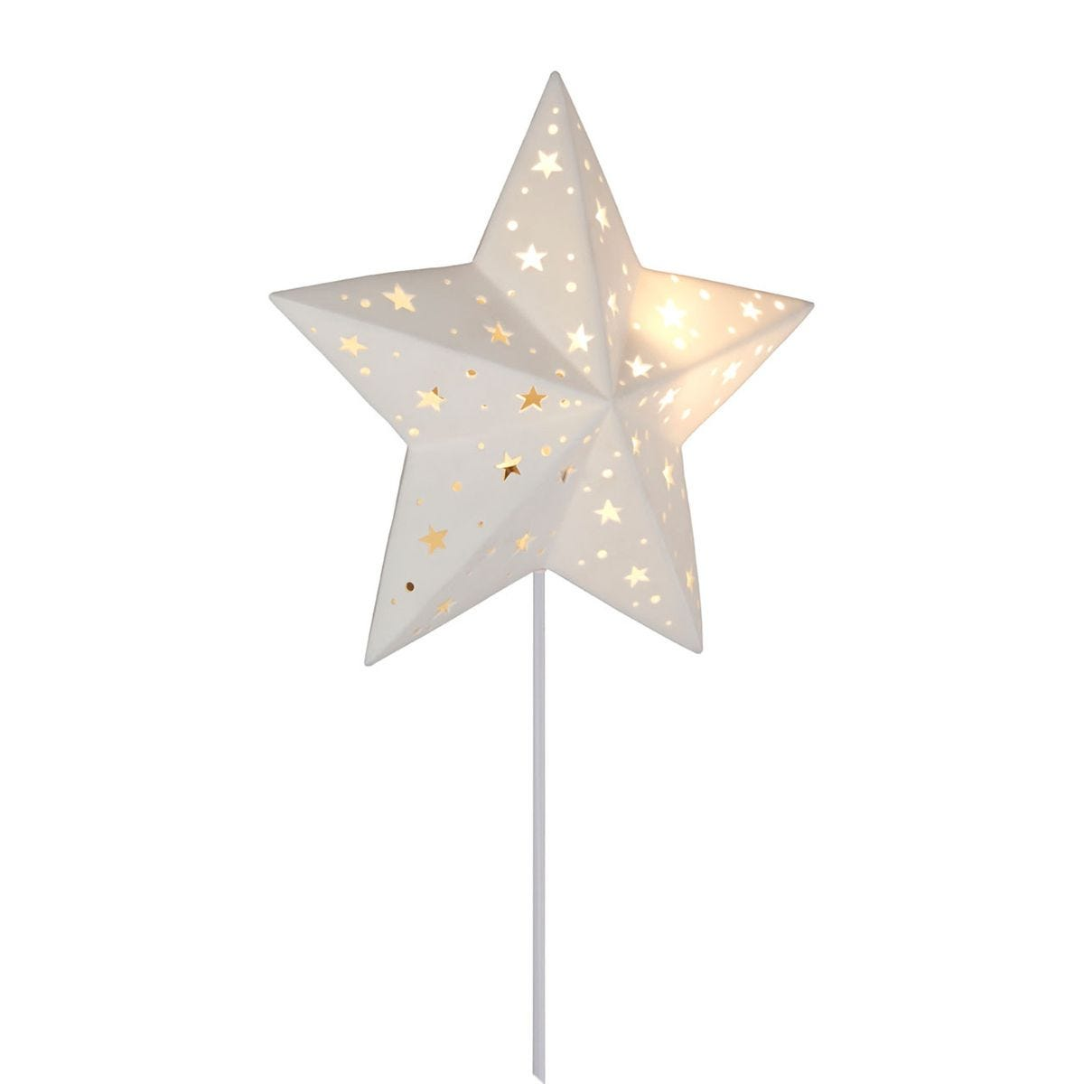 Kids Star Night Light White Ceramic Wall Mounted
