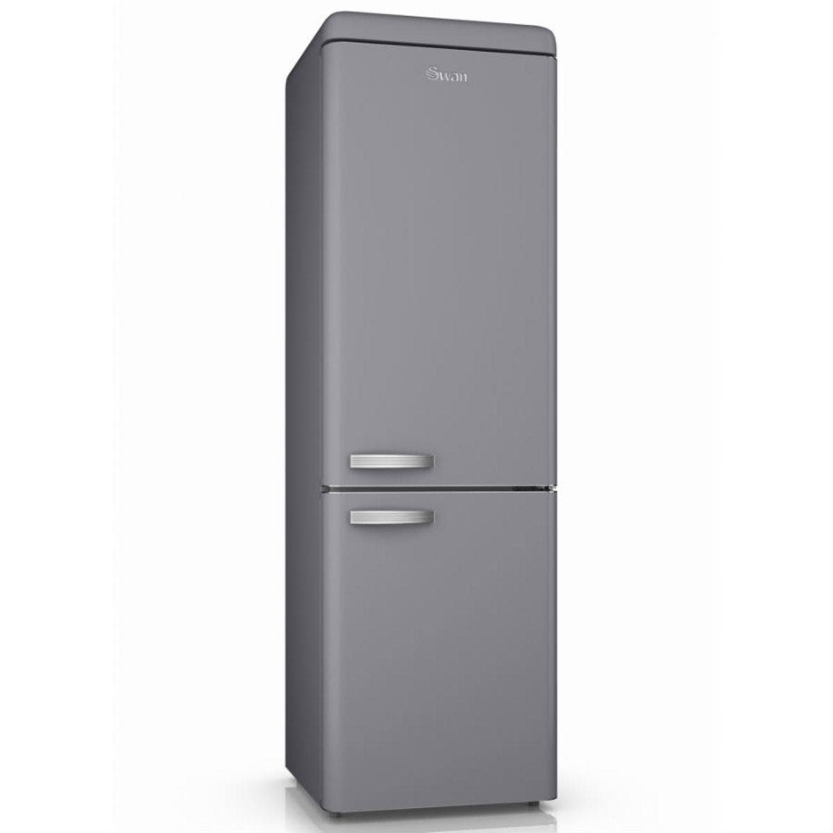 Swan SR11020GRN Retro 300L Frost Free Fridge Freezer - Grey