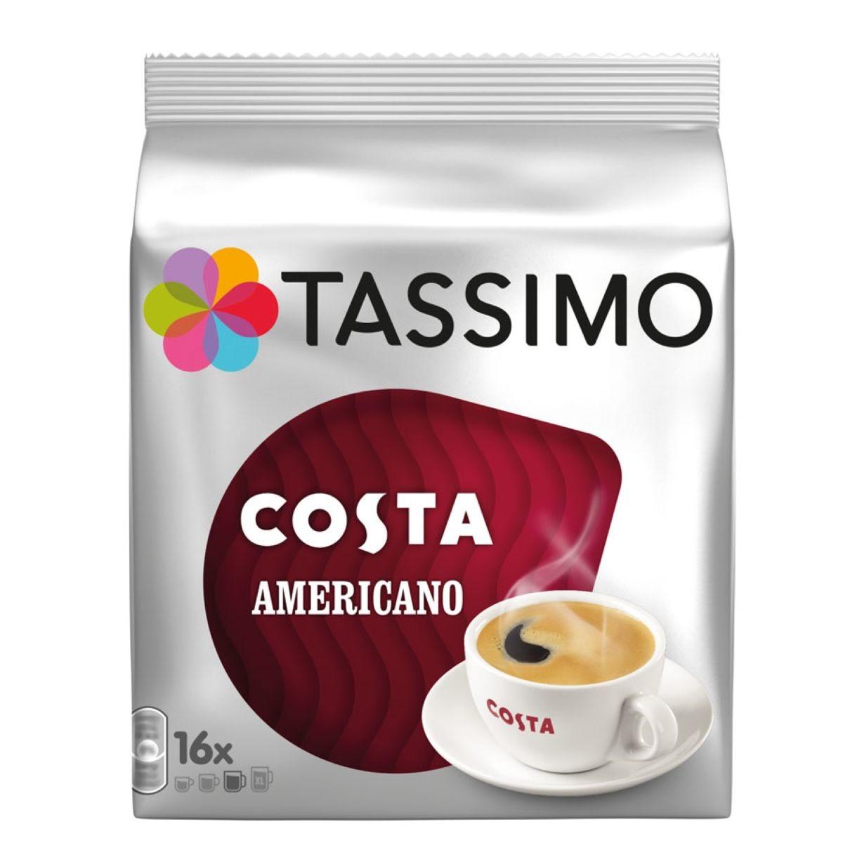 Tassimo Costa Americano Refill Pods - 16 Cups